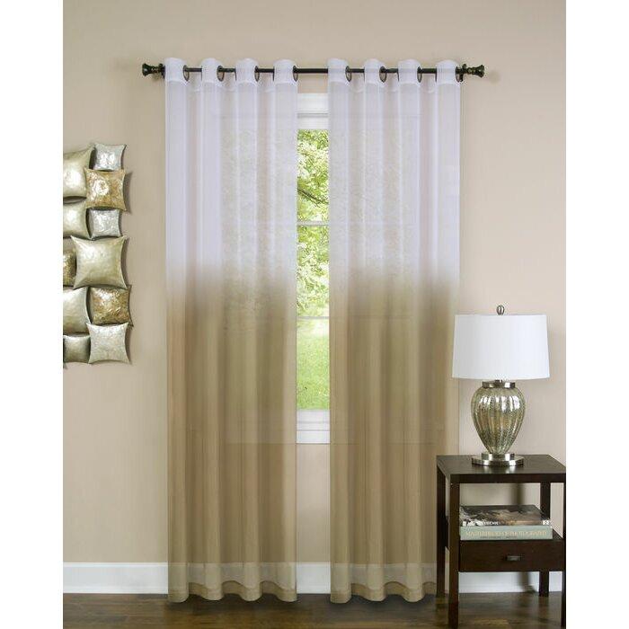 Achim Importing Co Essence Grommet Single Curtain Panel Reviews Wayfair