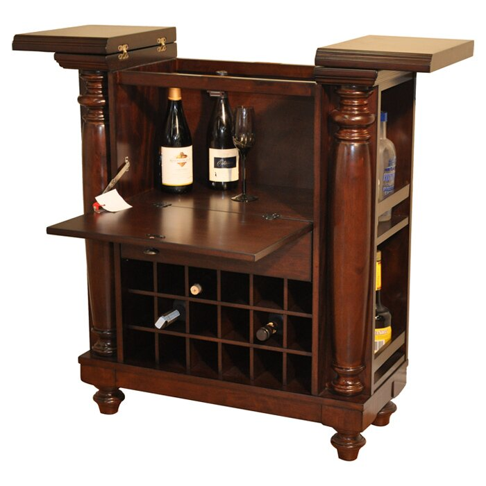 Eci Furniture Rustic Bar With Wine Storage Reviews