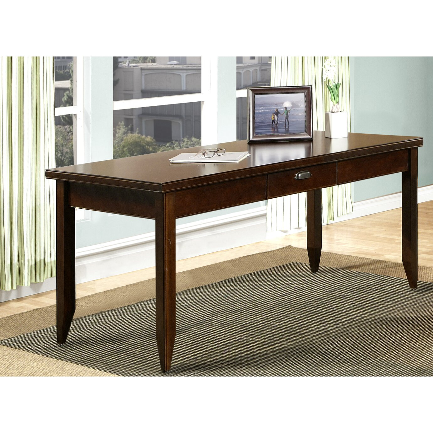 kathy ireland writing desk Double pedestal computer desk single pedestal computer desk writing desk  with 3 drawers and shelf see all desks by kathy ireland home by martin.