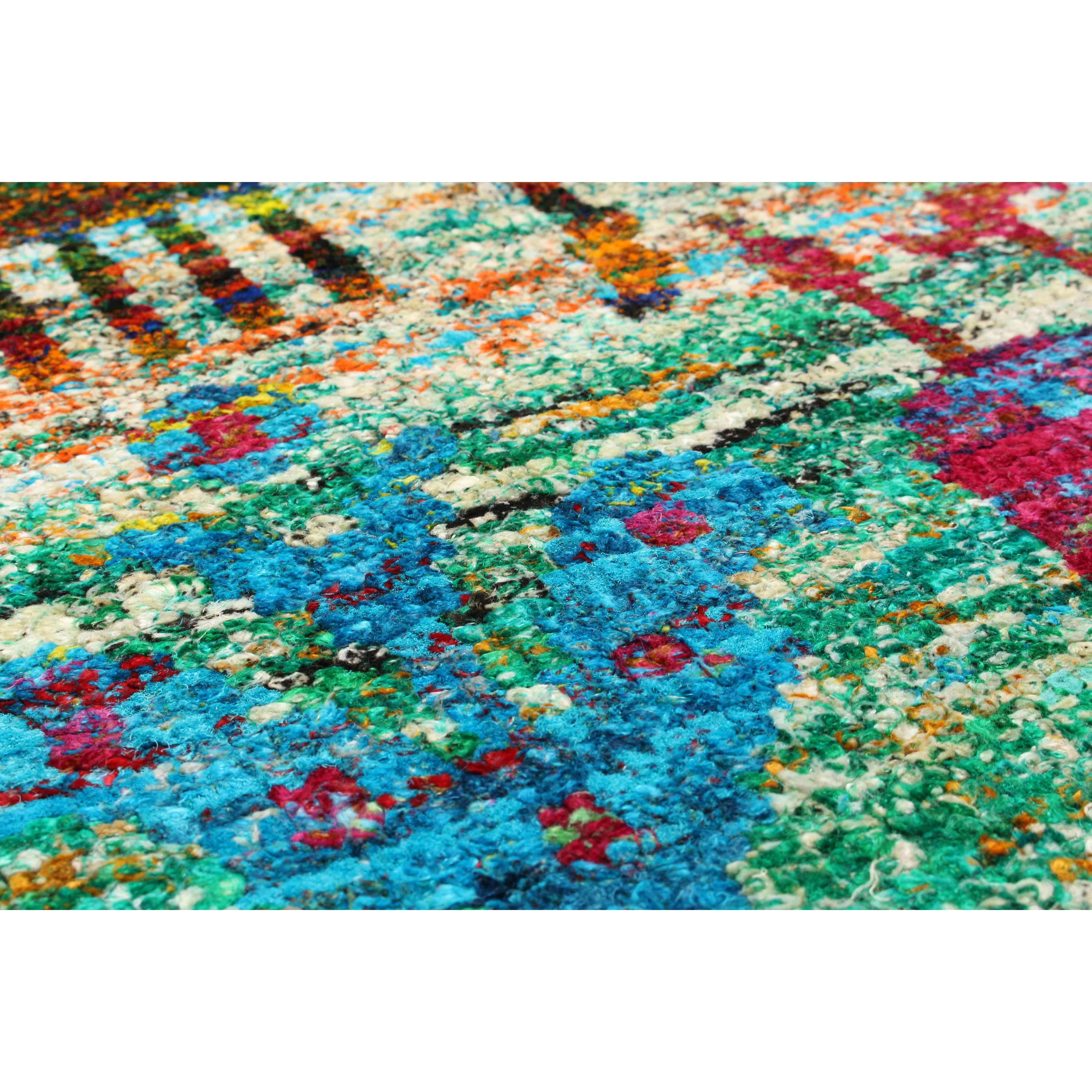 hand knotted blue green red area rug wayfair. Black Bedroom Furniture Sets. Home Design Ideas