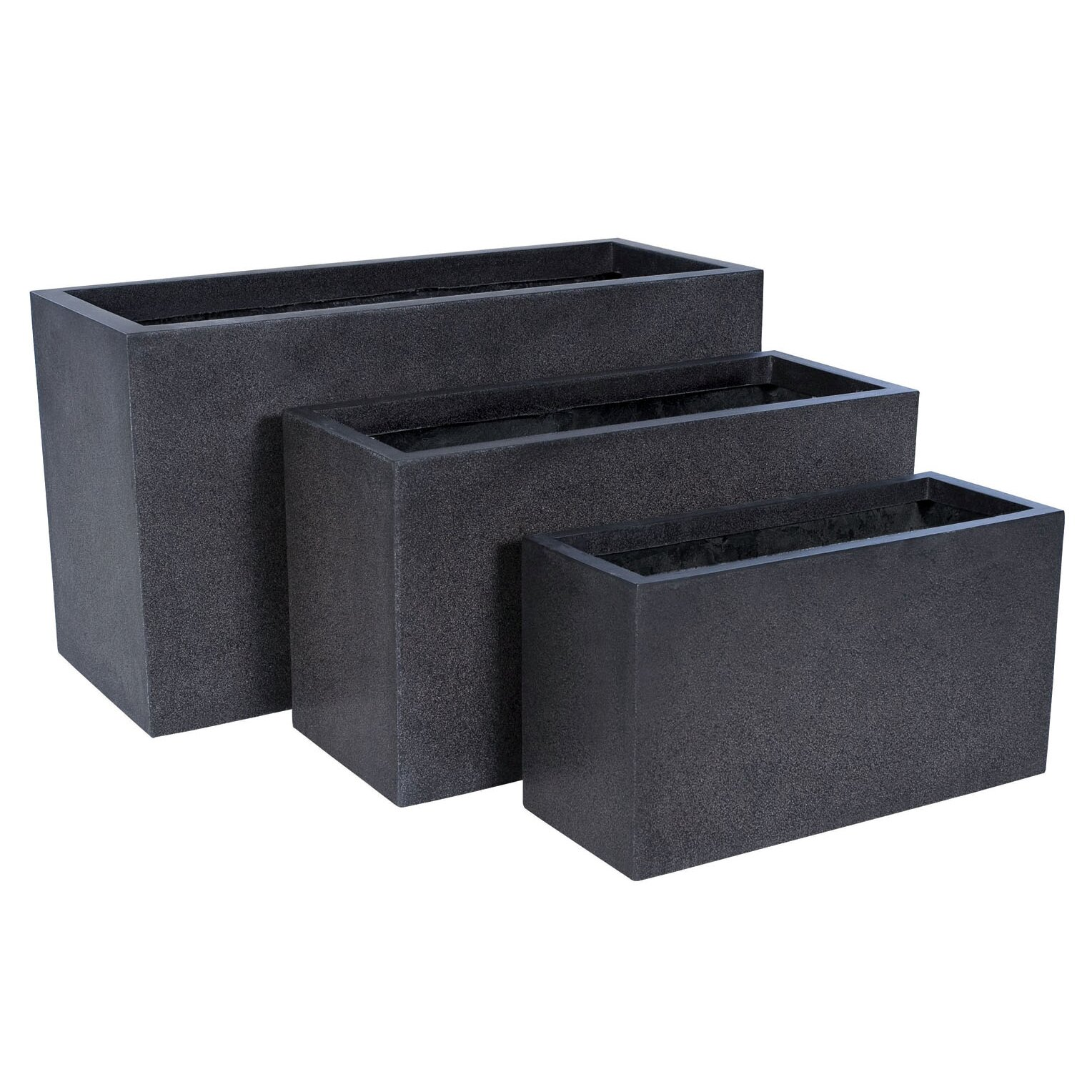 Lux Rectangular Planter Wayfair Uk