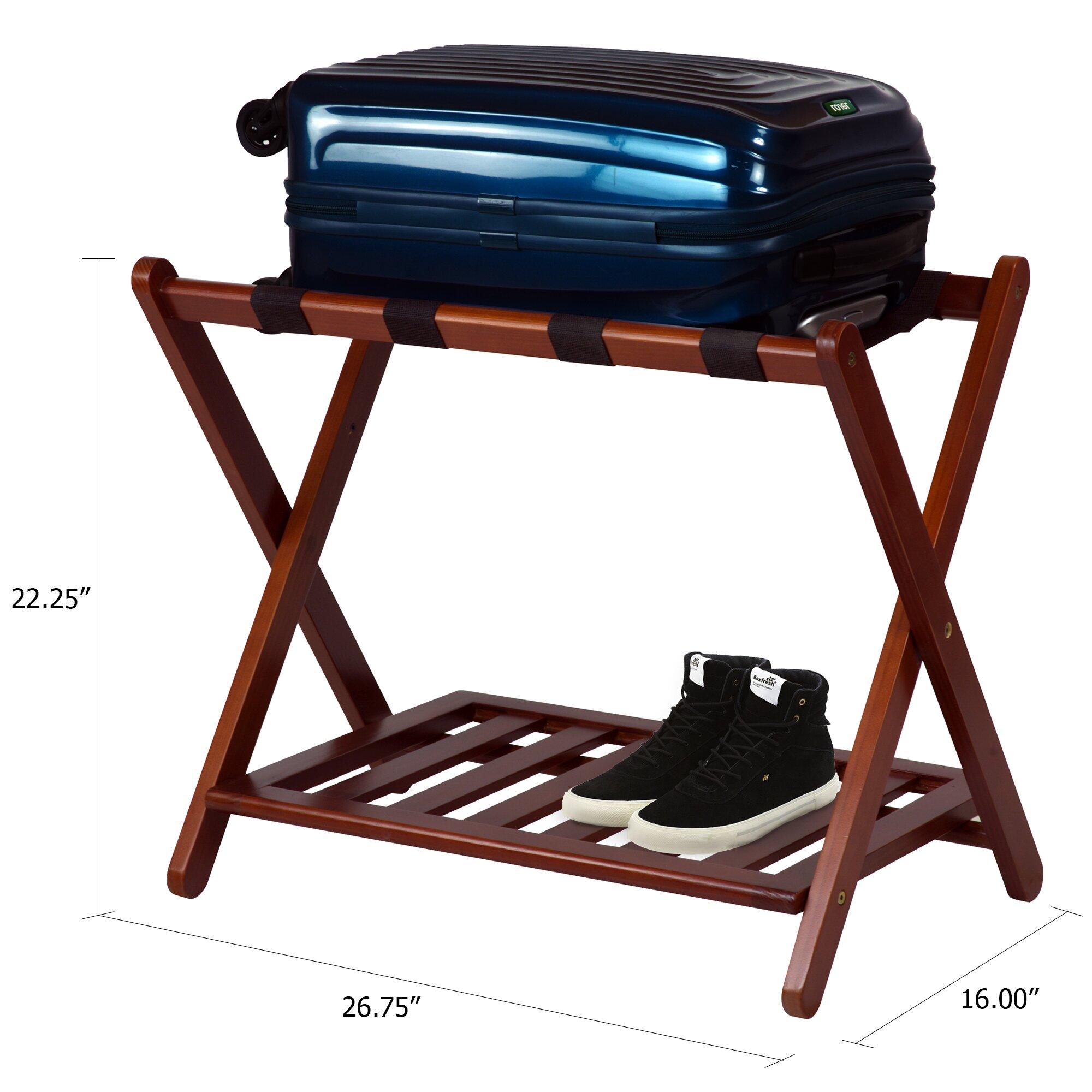 Calvin luggage rack wayfair for Folding luggage racks bedroom