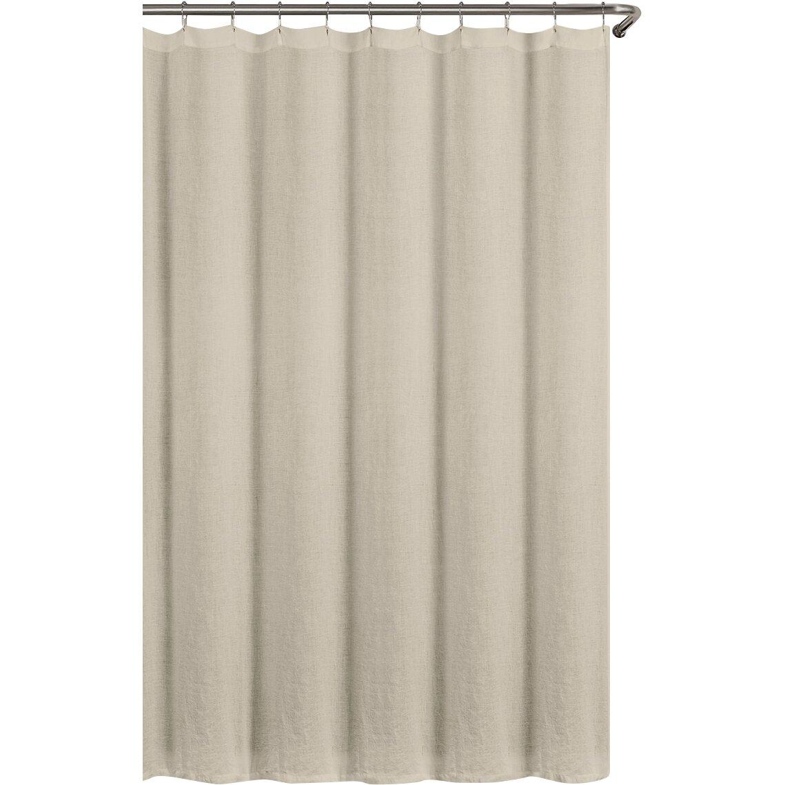Echelon Home Washed Belgian Linen Shower Curtain & Reviews