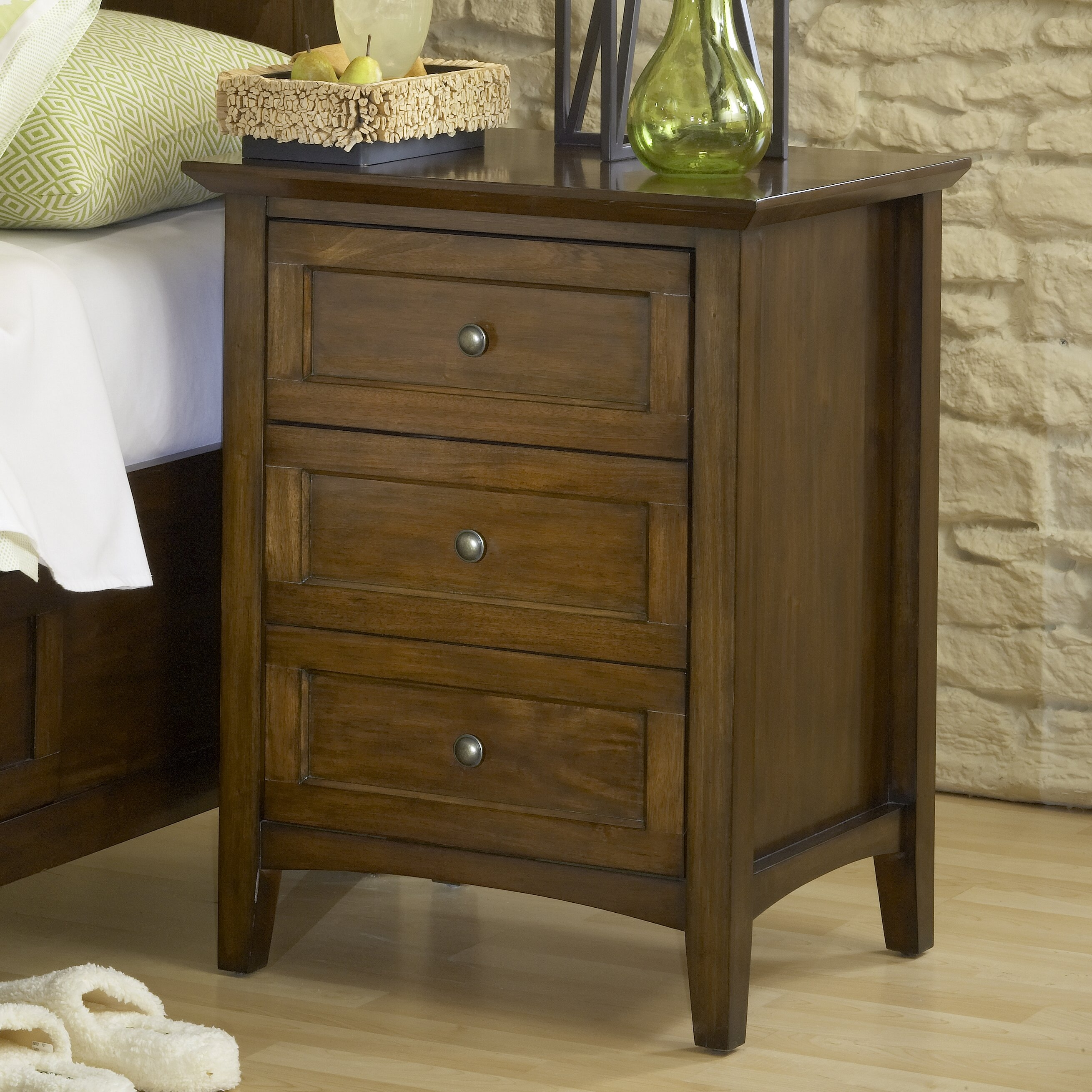 Modus Paragon 3 Drawer Nightstand Amp Reviews Wayfair