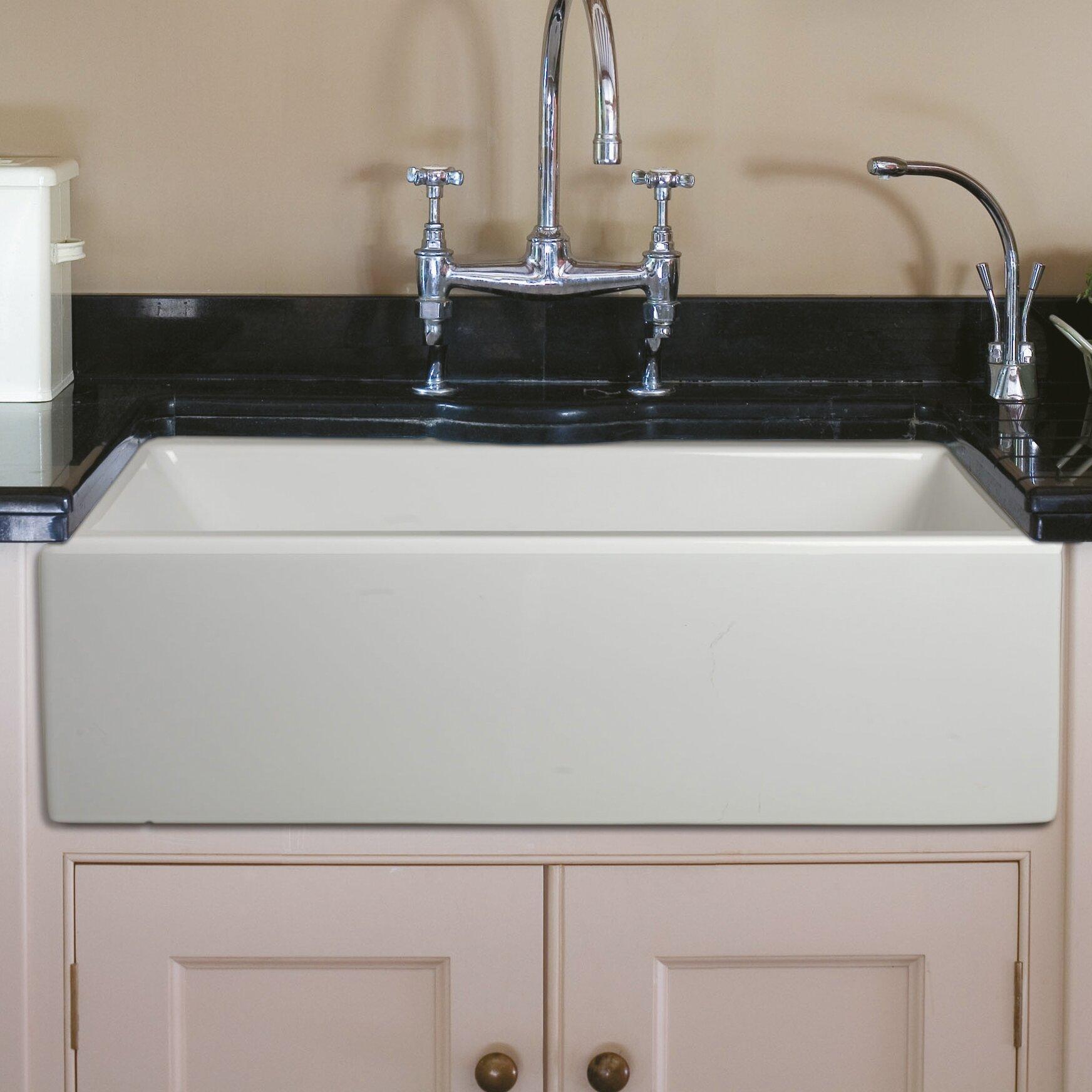 30 Fireclay Farmhouse Sink : Caesar 30