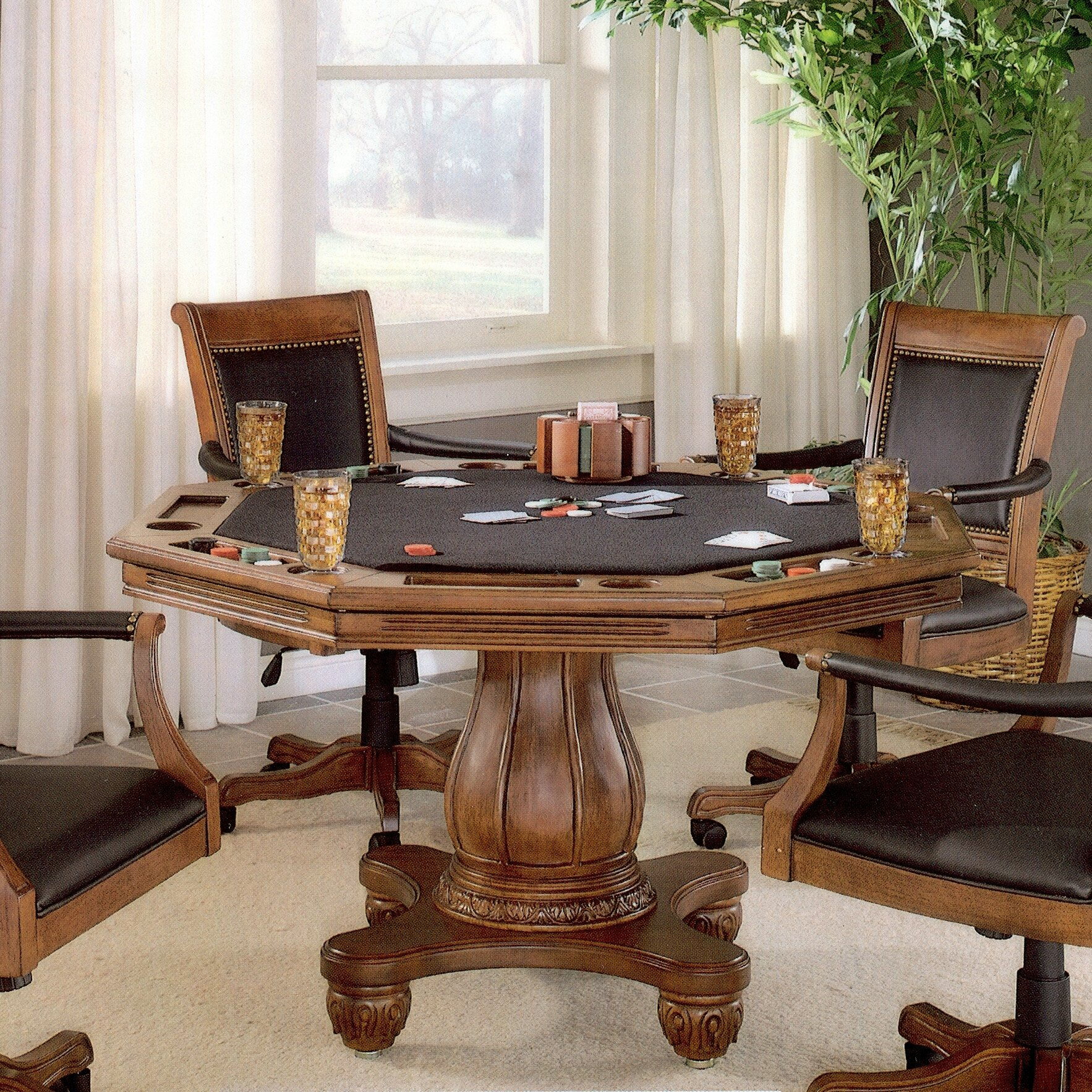 Poker Dining Room Table: Strawn Poker Table