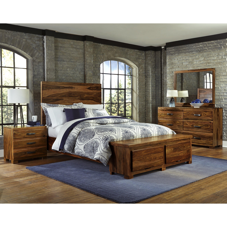 Madera platform 7 piece bedroom set wayfair - Platform bedroom sets with storage ...