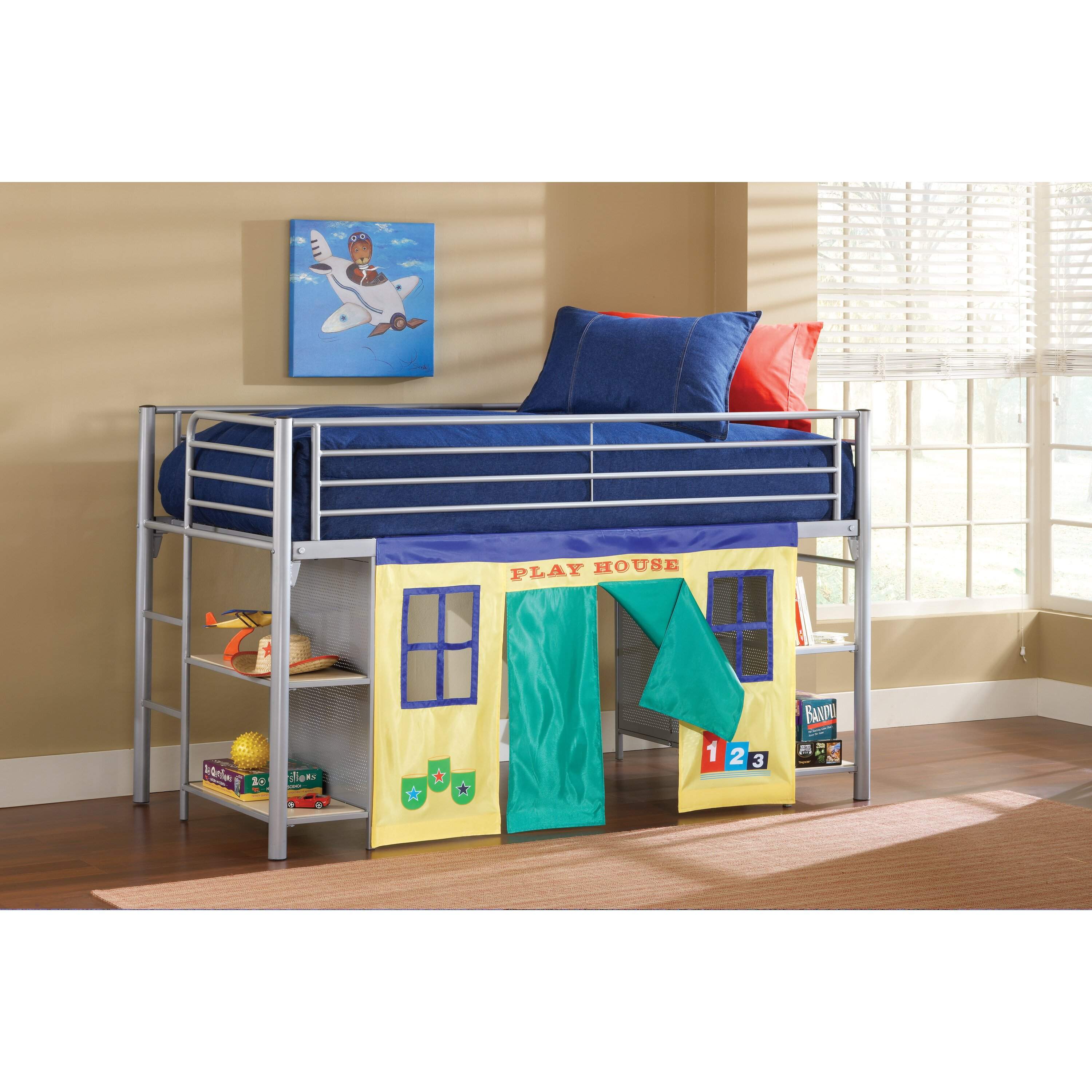 universal youth twin low loft bed wayfair. Black Bedroom Furniture Sets. Home Design Ideas