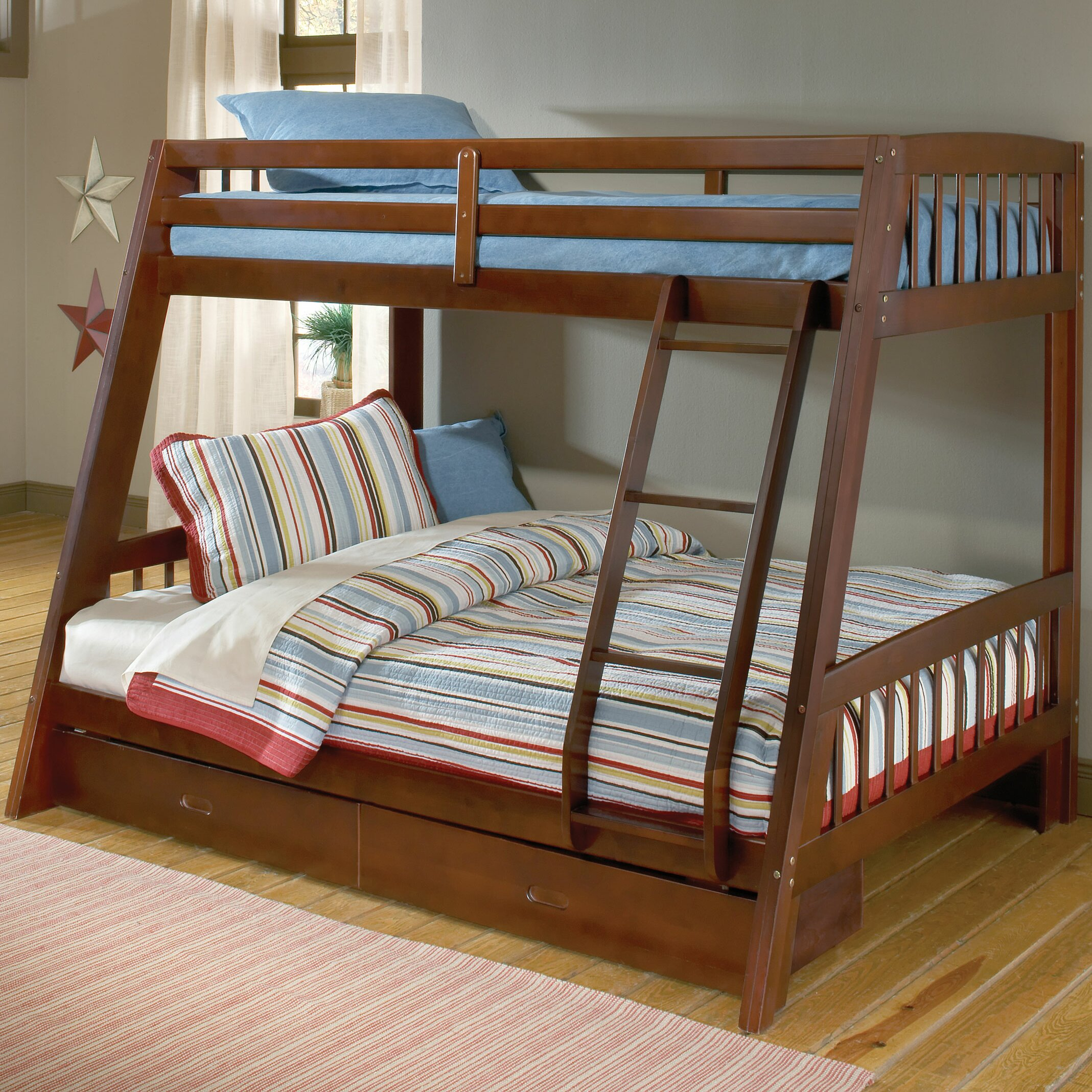 rockdale twin over full bunk bed with storage wayfair. Black Bedroom Furniture Sets. Home Design Ideas