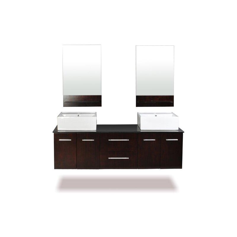 Skyline 72 Double Bathroom Vanity Set With Mirrors Wayfair