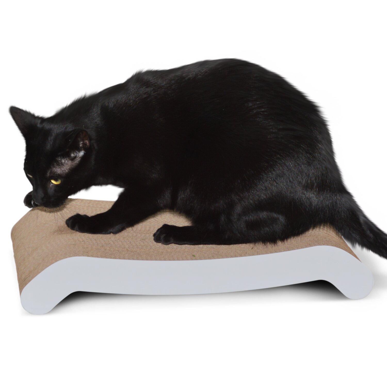 Petfusion reversible curve cat scratcher reviews wayfair for Curved cat scratcher