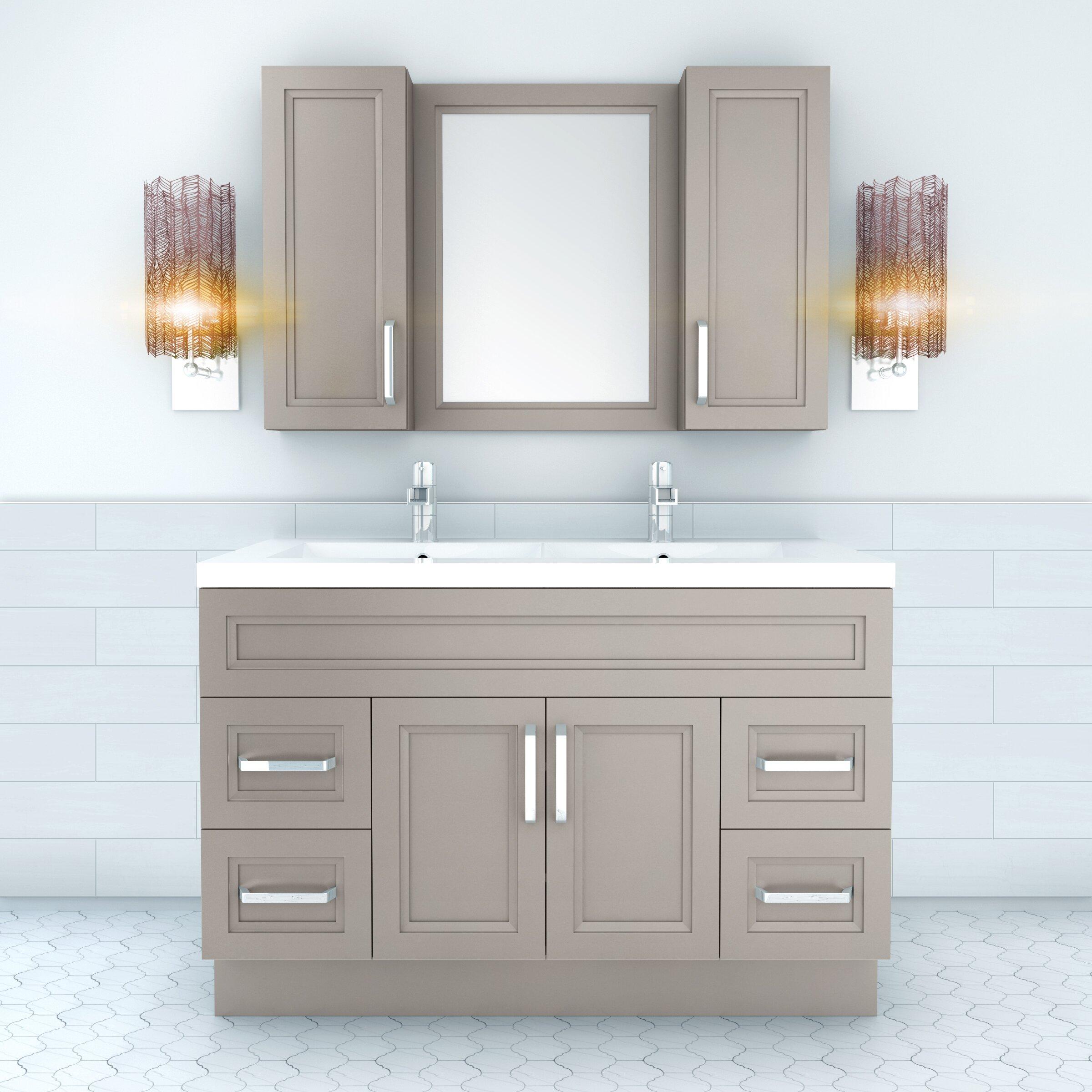 "Double Bowl Vanity Tops For Bathrooms: Urban 48"" Vanity Double Bowl"
