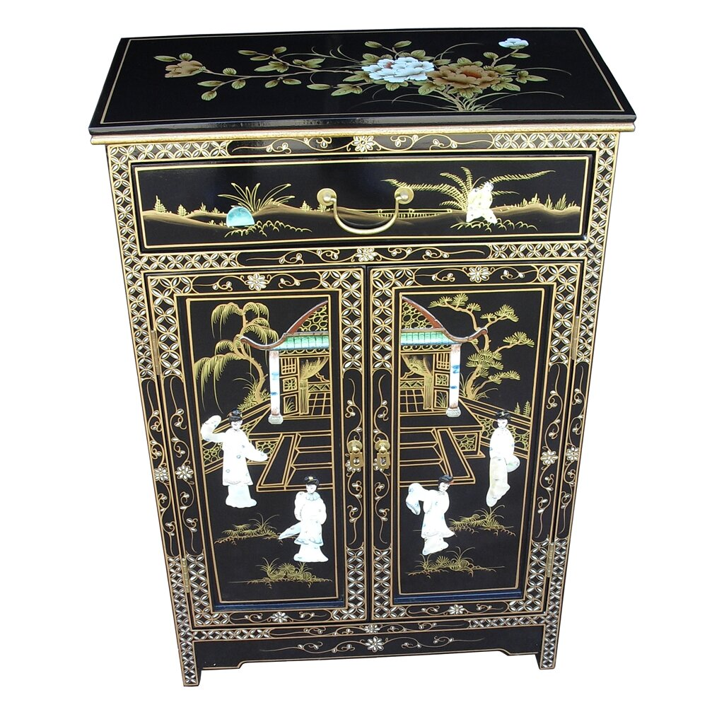 Mother of pearl 2 door 1 drawer cabinet wayfair uk for Grand international decor
