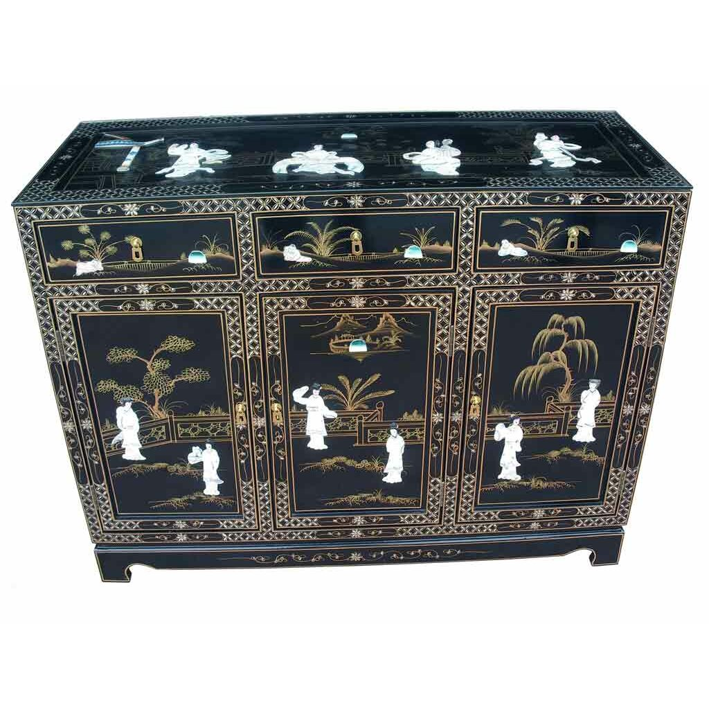 Grand international decor mother of pearl 3 door 3 drawer for Grand international decor