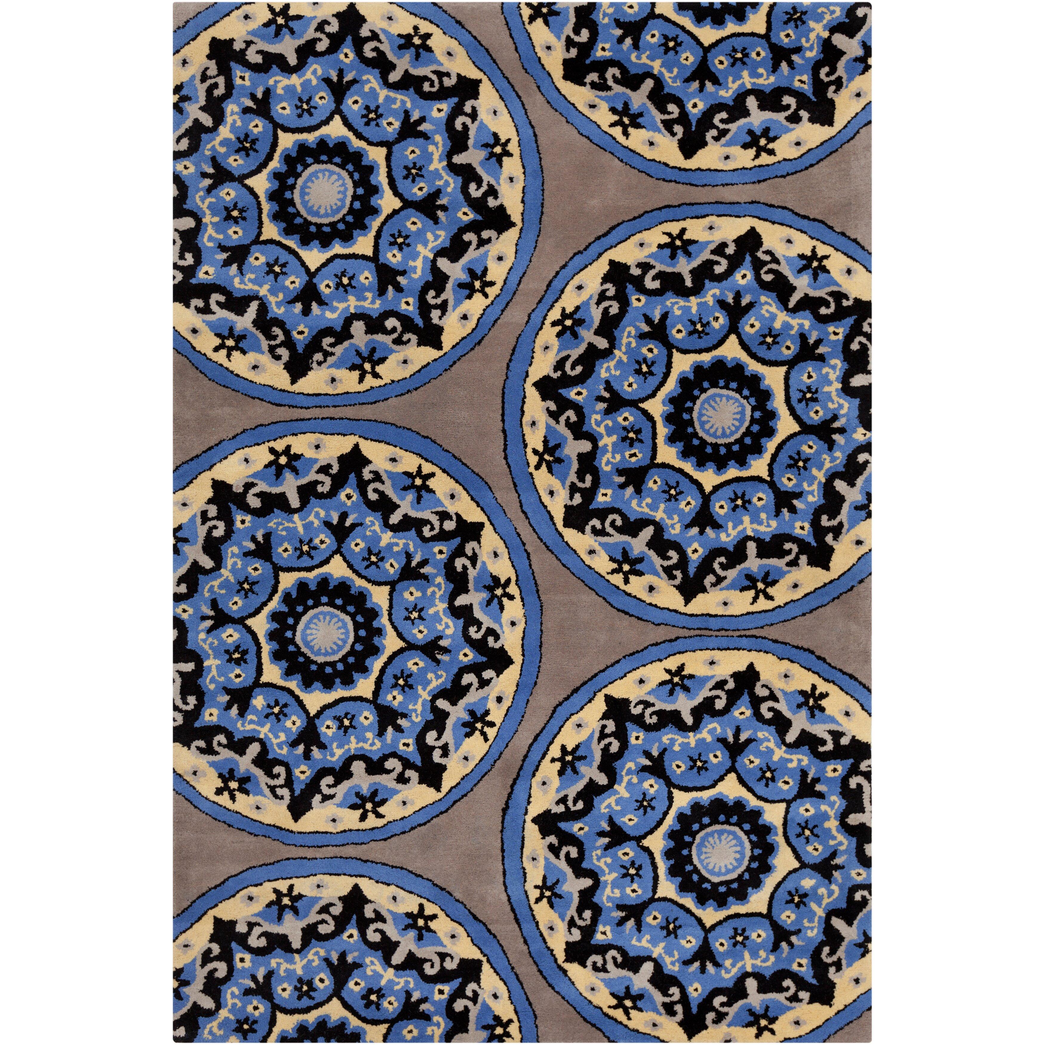 Filament Cinzia Grey Blue Abstract Area Rug Allmodern