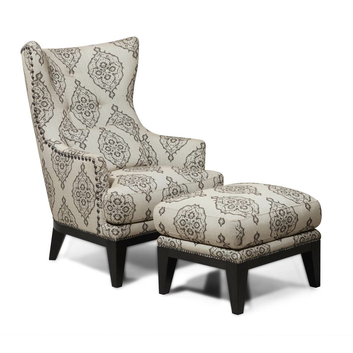 Brewster Wingback Chair & Ottoman