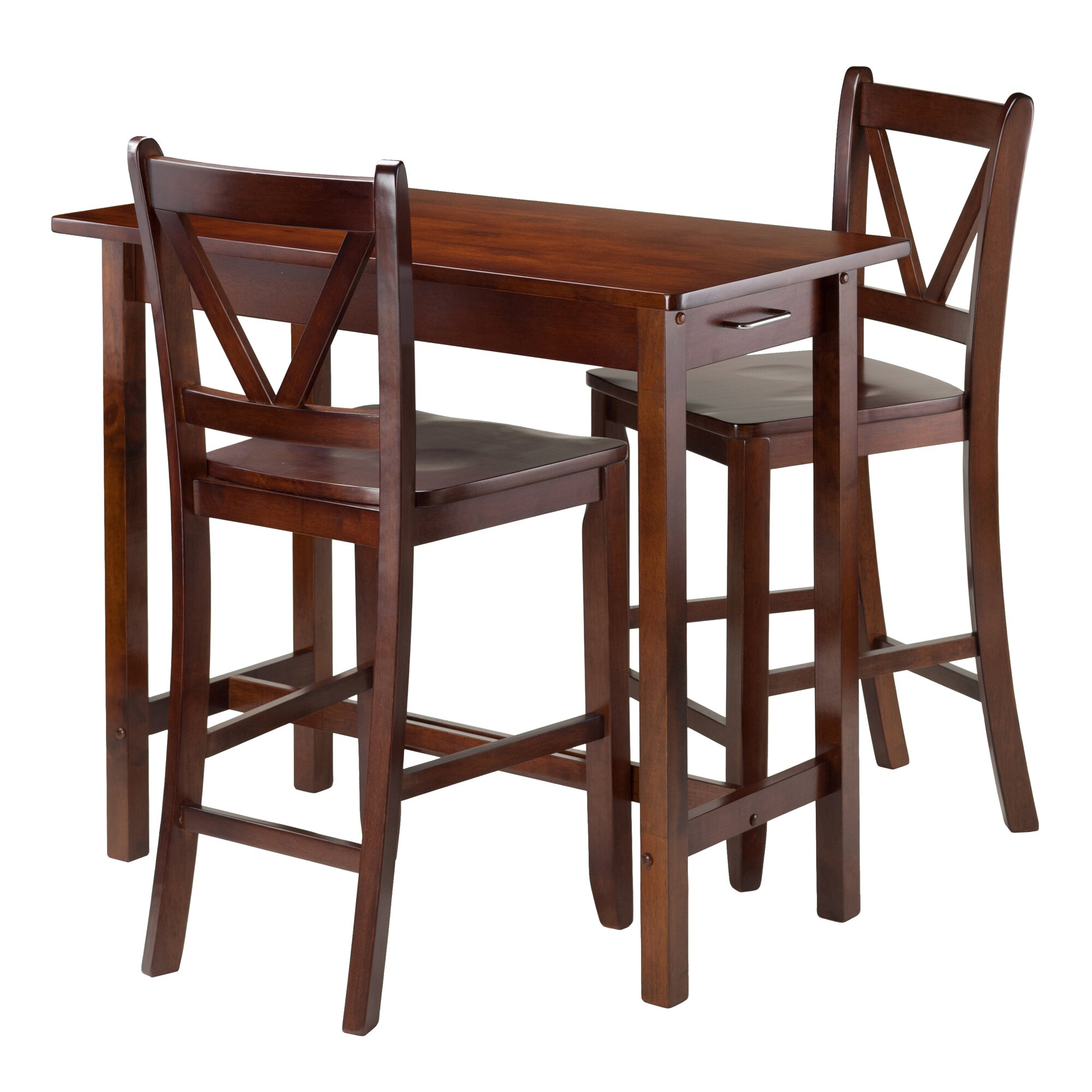 winsome kitchen island 3 piece dining set reviews