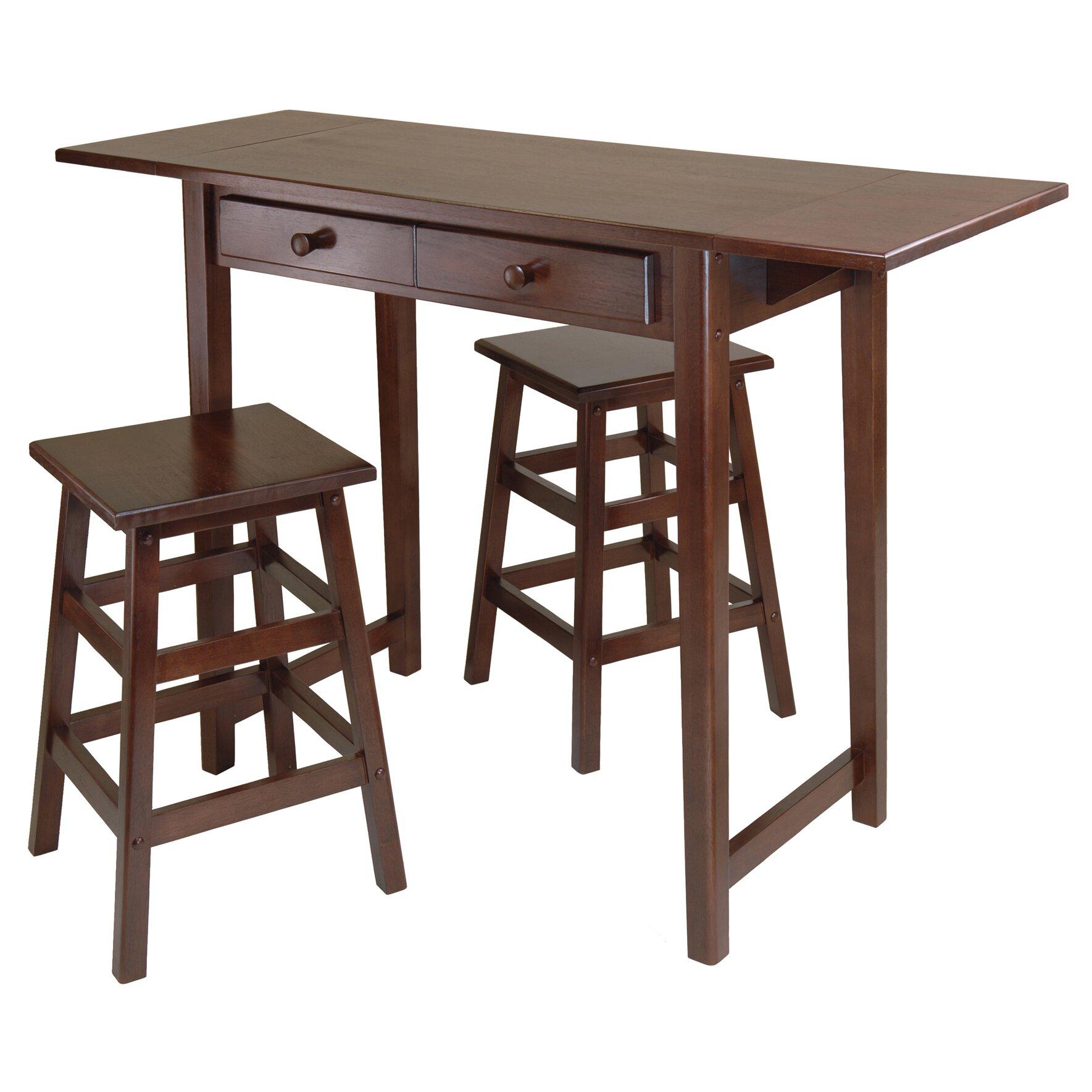 winsome mercer 3 piece dining set reviews wayfair. Black Bedroom Furniture Sets. Home Design Ideas