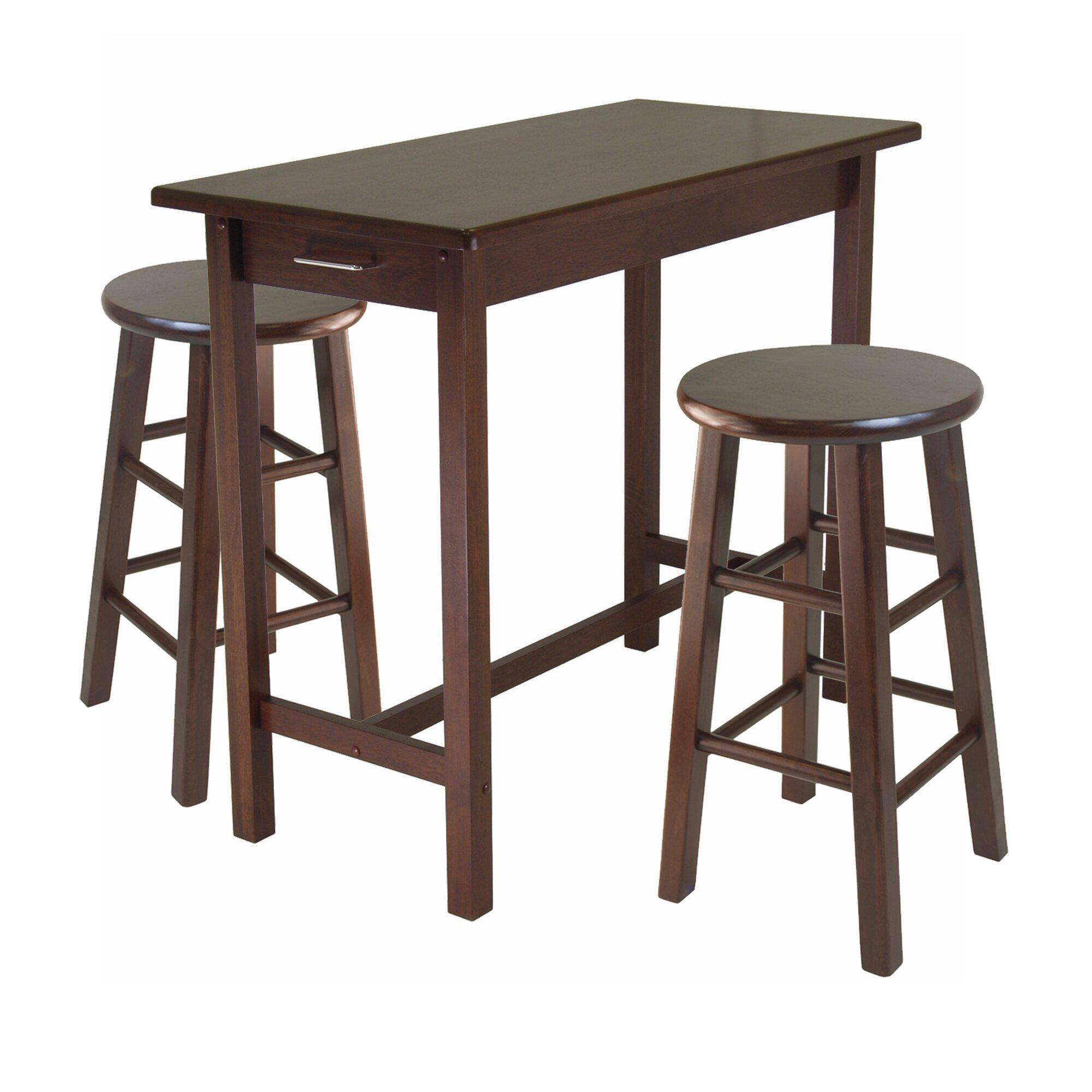3 piece breakfast dining set wayfair. Black Bedroom Furniture Sets. Home Design Ideas