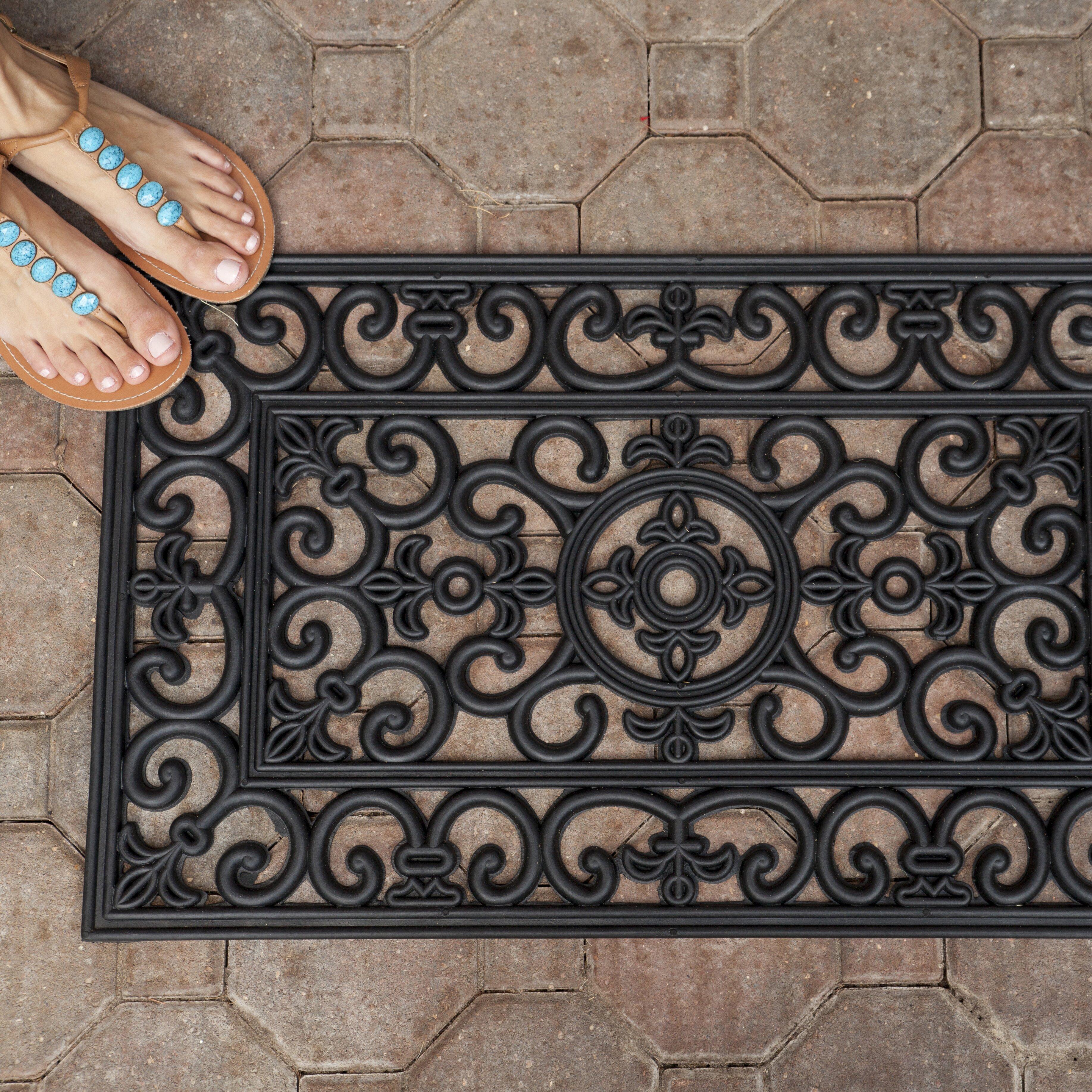 Entryways Handmade Fleur Di Lys Doormat Reviews Wayfair