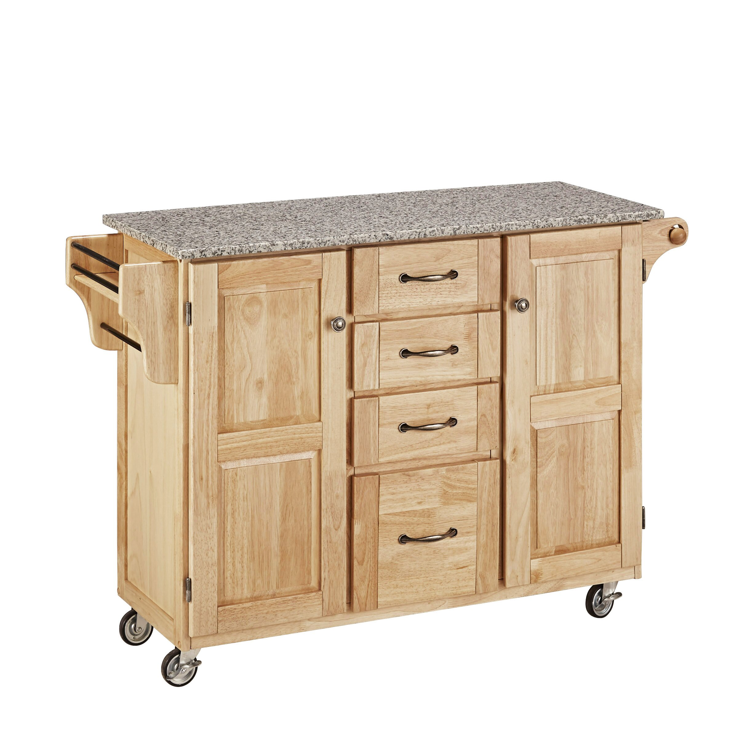 Home styles create a cart kitchen island with granite top for Homestyles com