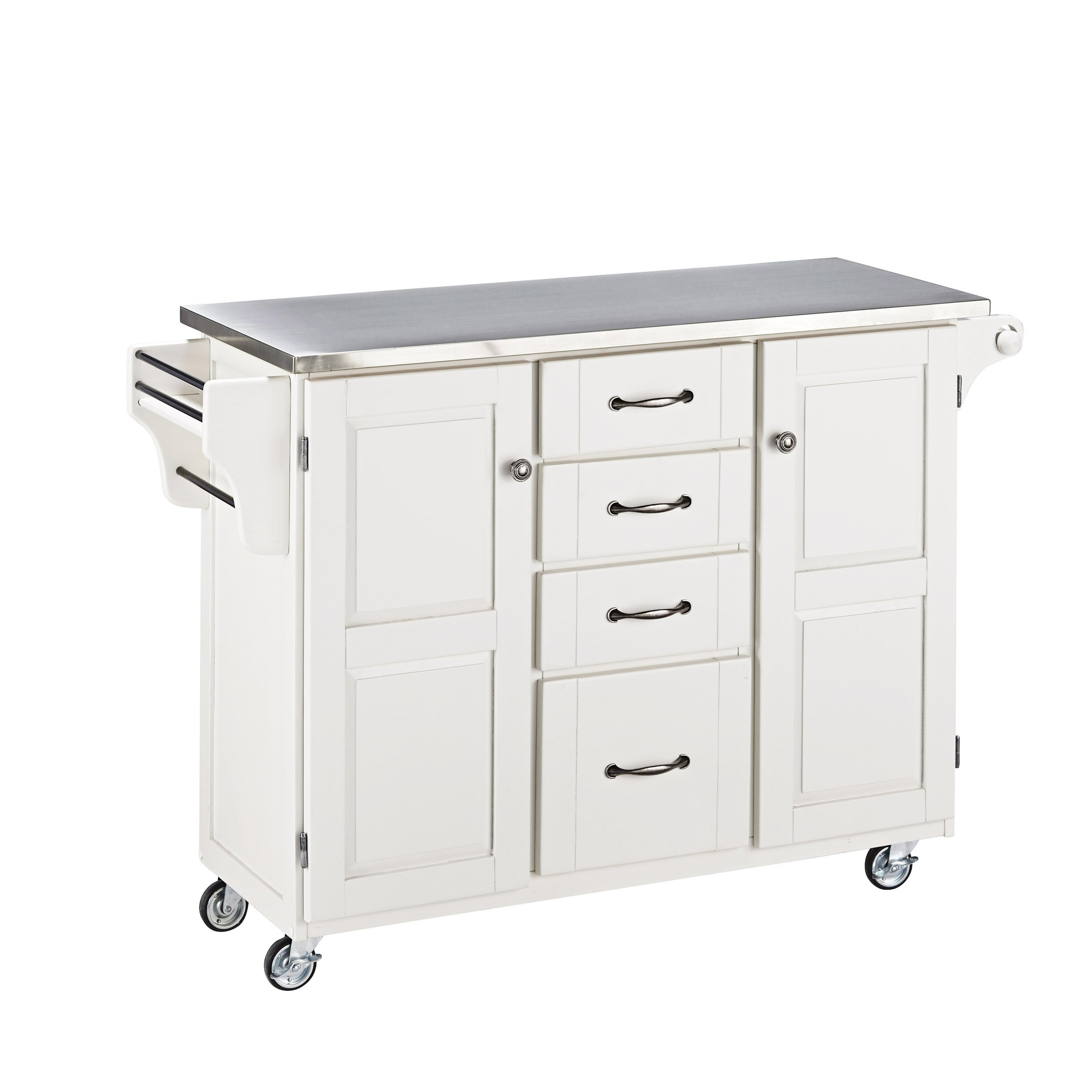 Create A Cart Kitchen Island With Stainless Steel Top