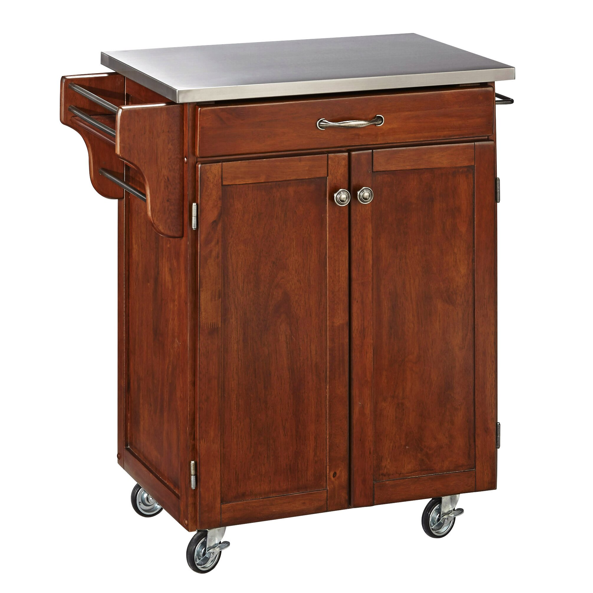 Stainless Kitchen Cart: Home Styles Cuisine Kitchen Cart With Stainless Steel Top