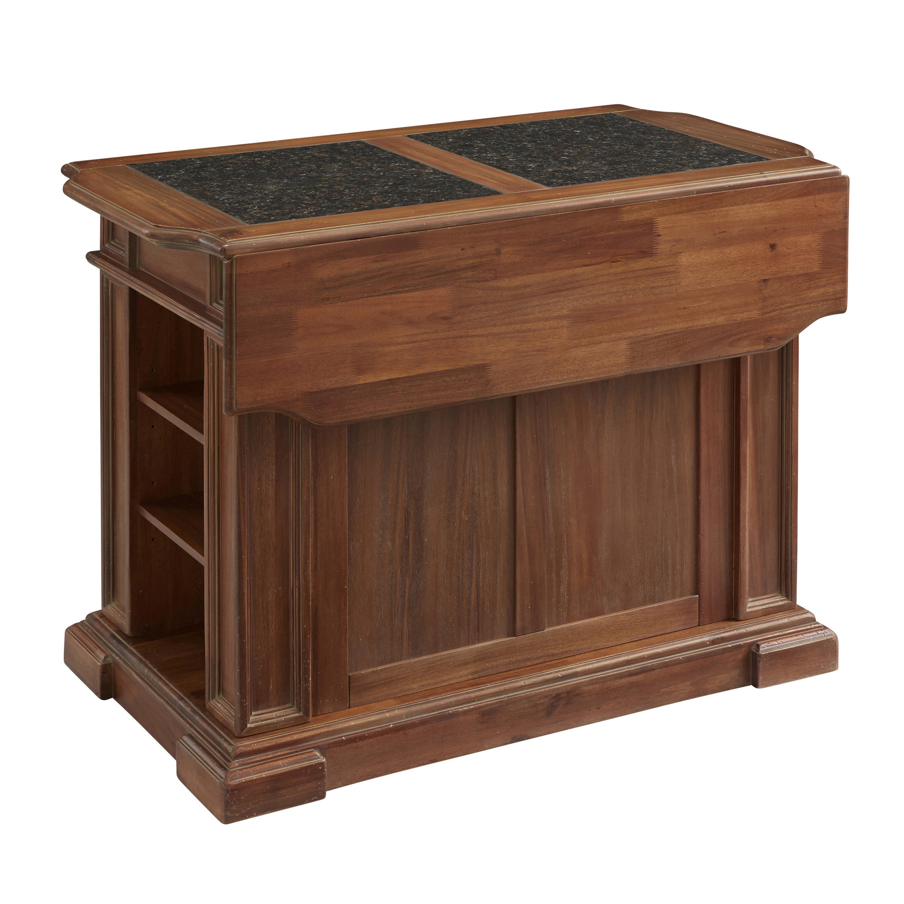 Americana Kitchen Island with Granite Top by Home Styles