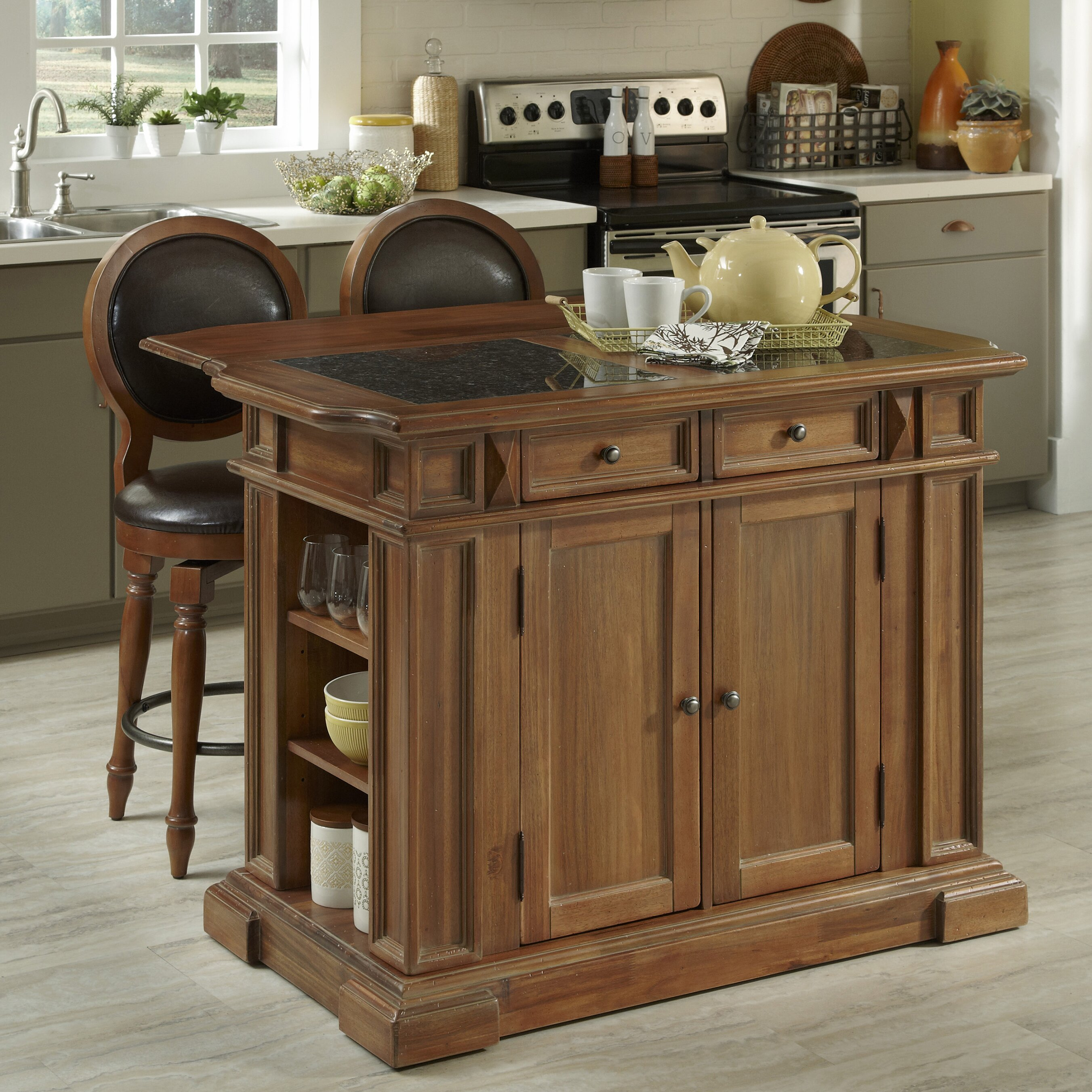 home styles americana kitchen island set reviews wayfair