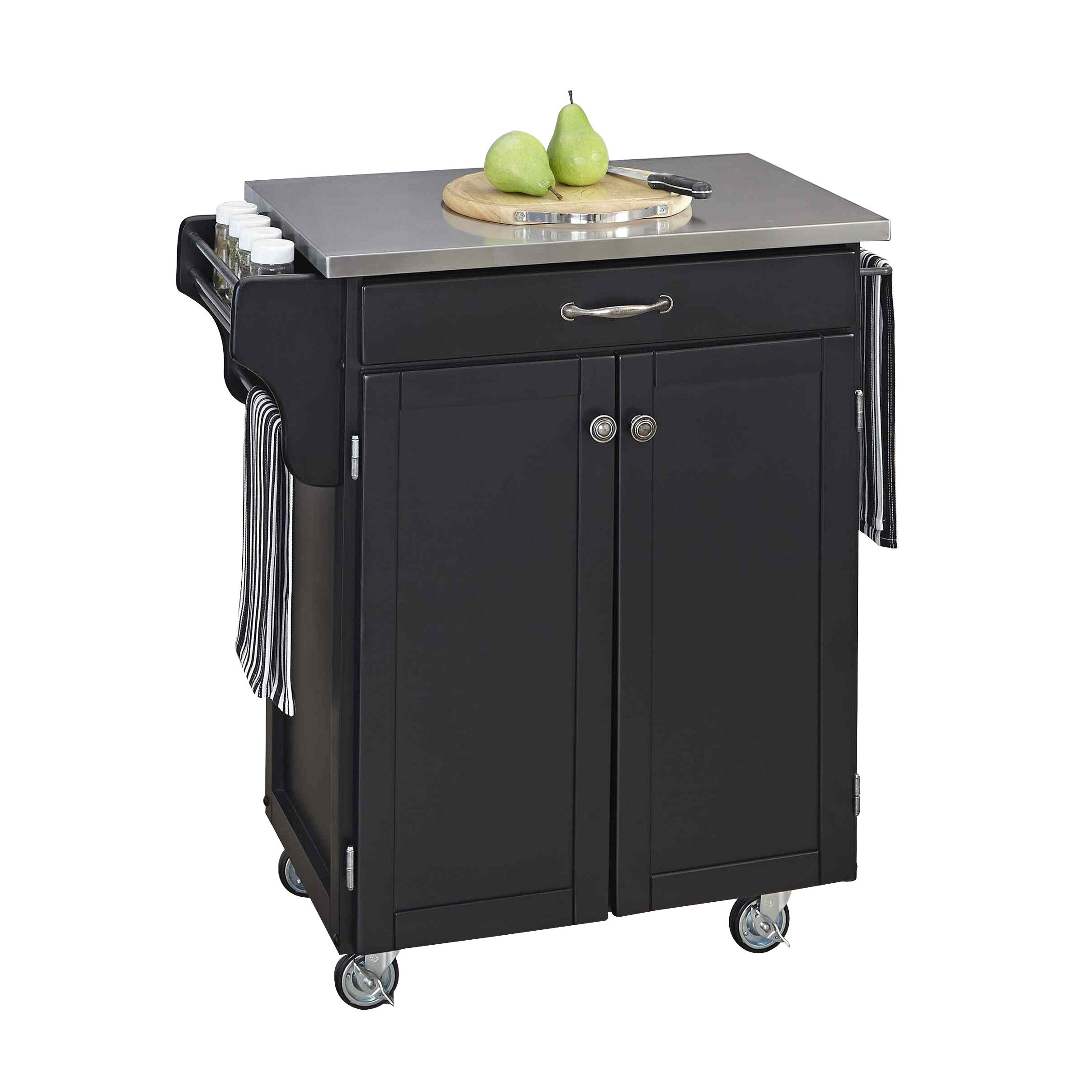 Home Styles Cuisine Kitchen Cart With Stainless Steel Top Reviews Wayfair