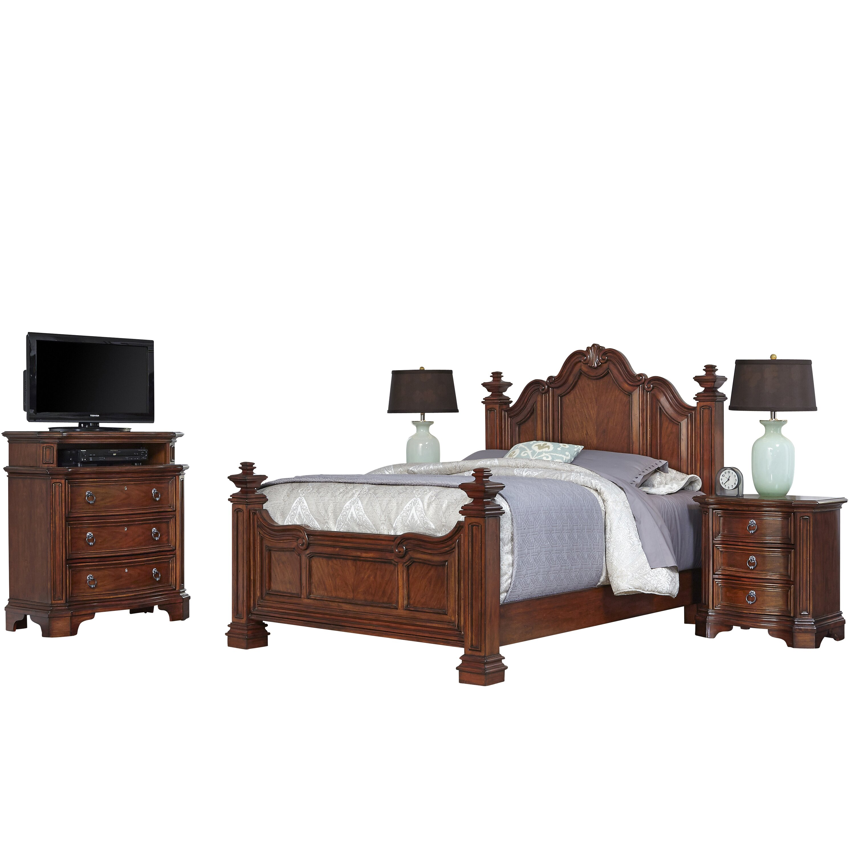 santiago panel 4 piece bedroom set by home styles