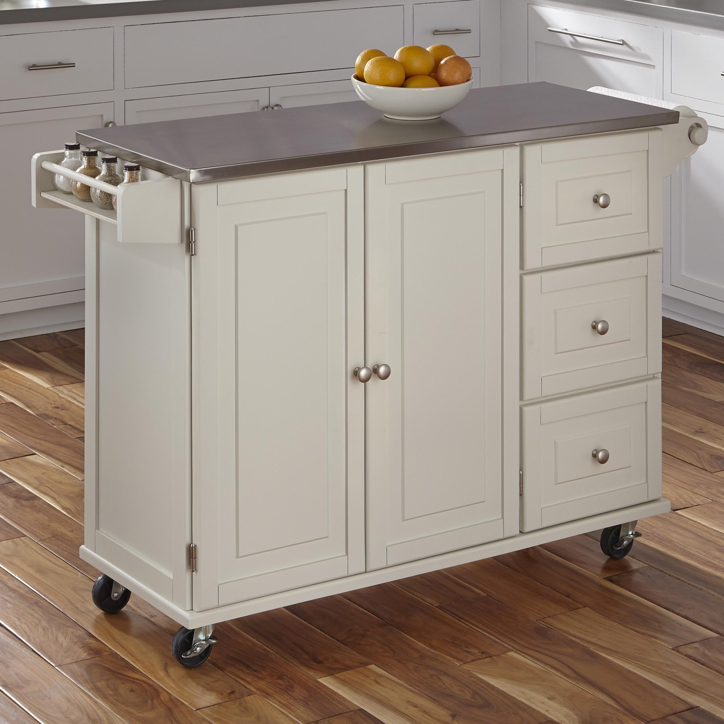 Liberty Kitchen Cart With Stainless Steel Top Wayfair