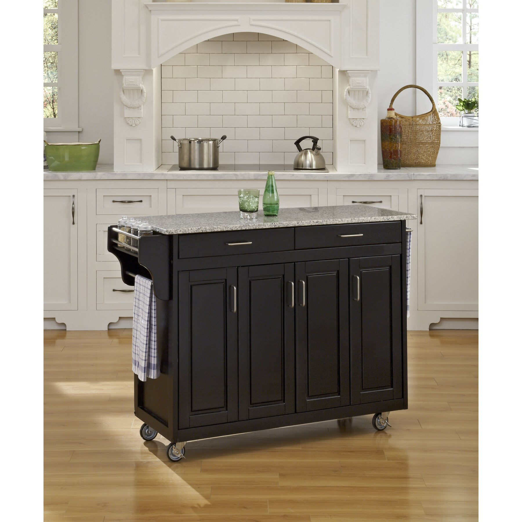 Create A Cart Kitchen Island With Granite Top Wayfair