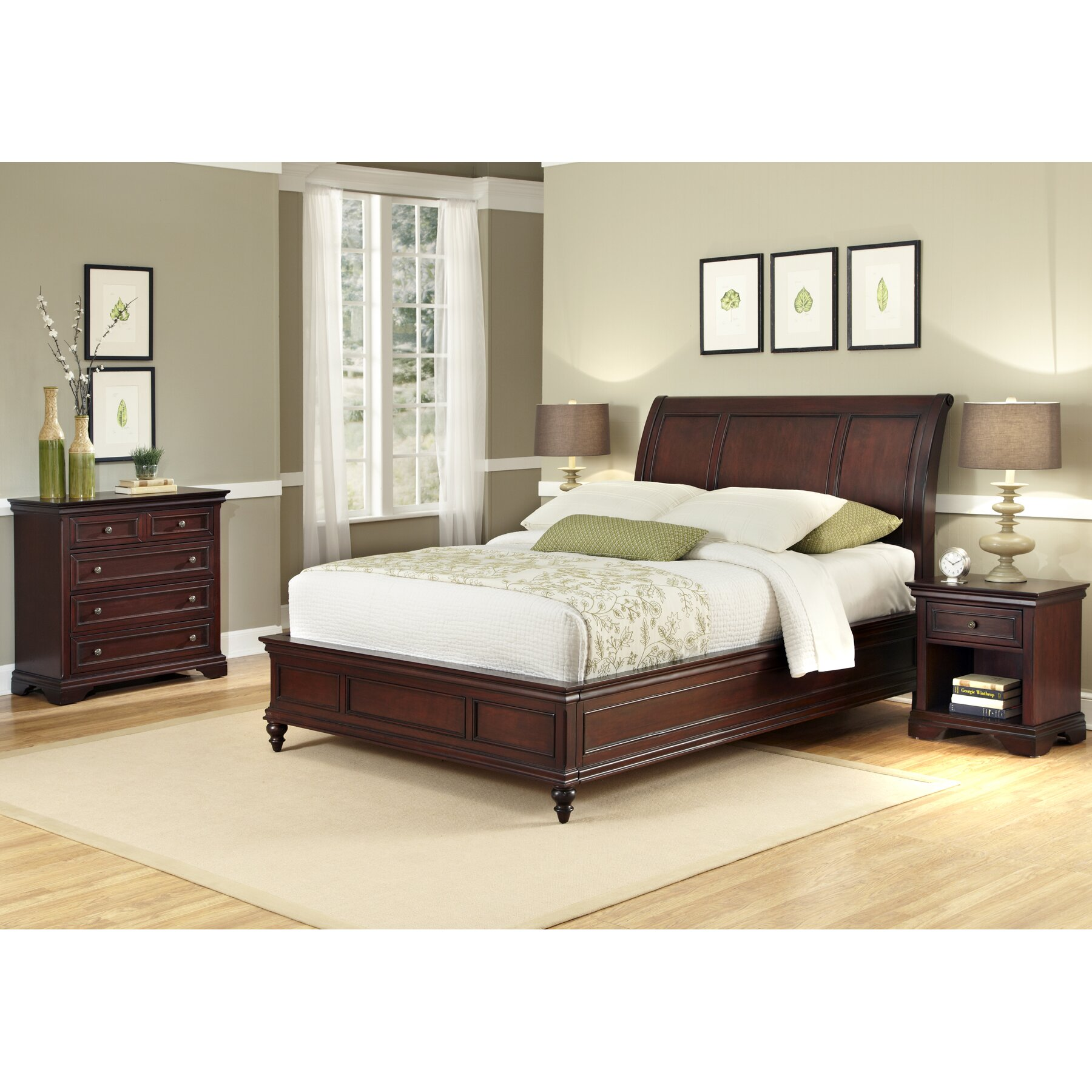 Lafayette platform 3 piece bedroom set wayfair for Bedroom 3 piece sets
