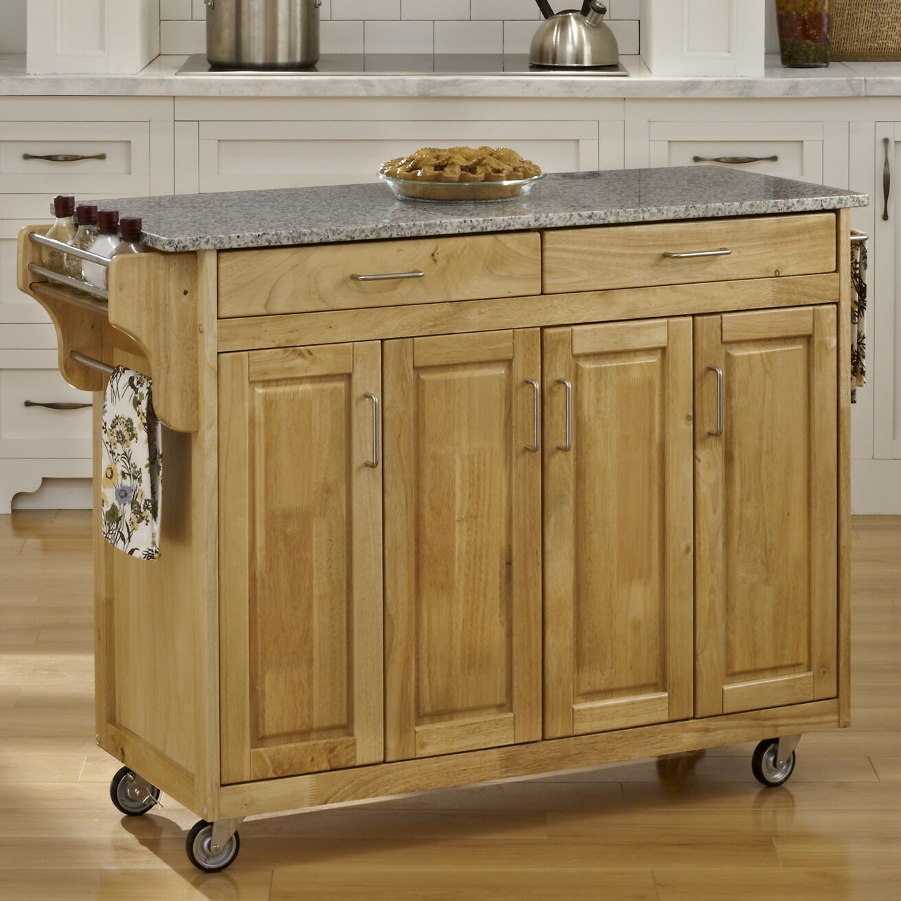 Creating A Kitchen Island: Create-a-Cart Kitchen Island With Granite Top