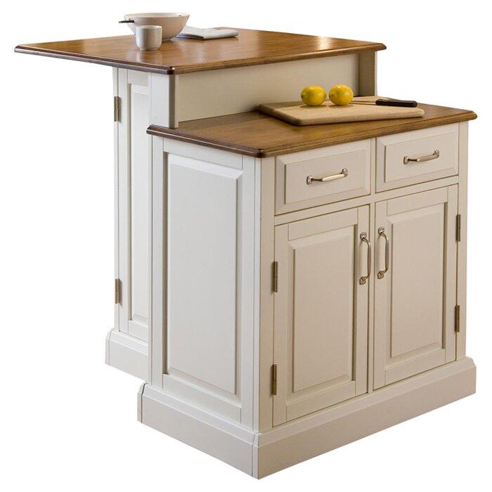 Woodbridge Kitchen Cabinets: Woodbridge Kitchen Island With Wooden Top