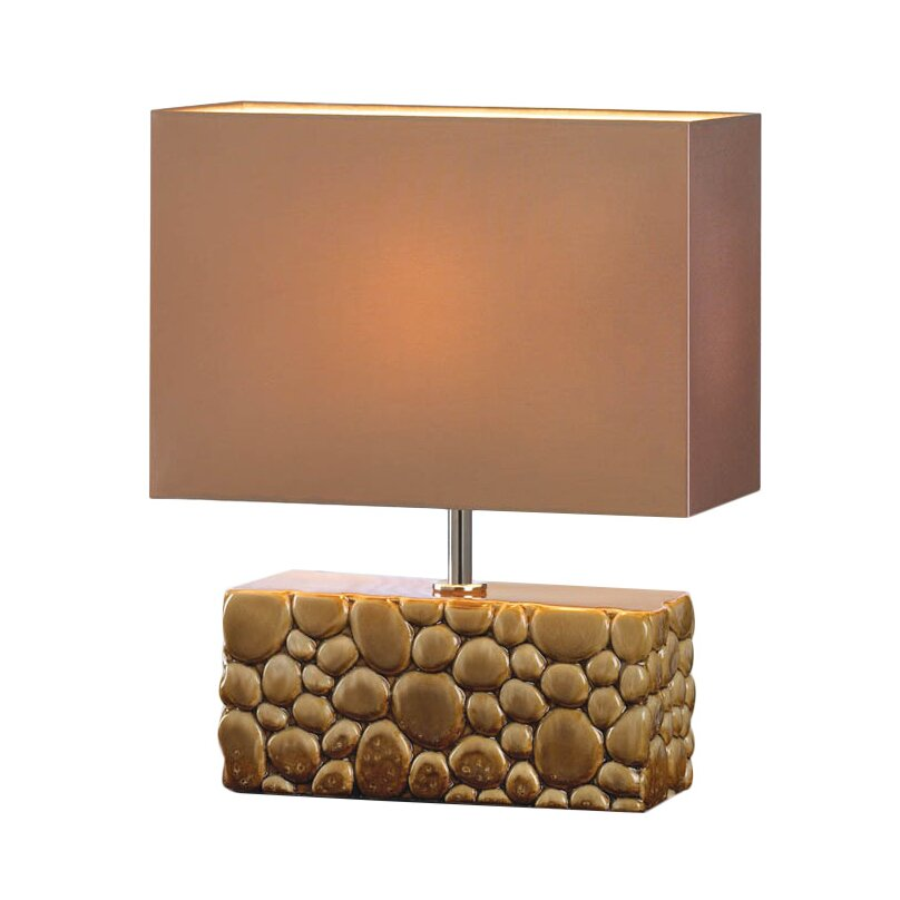 River rock h table lamp with rectangular shade for River rock lamp