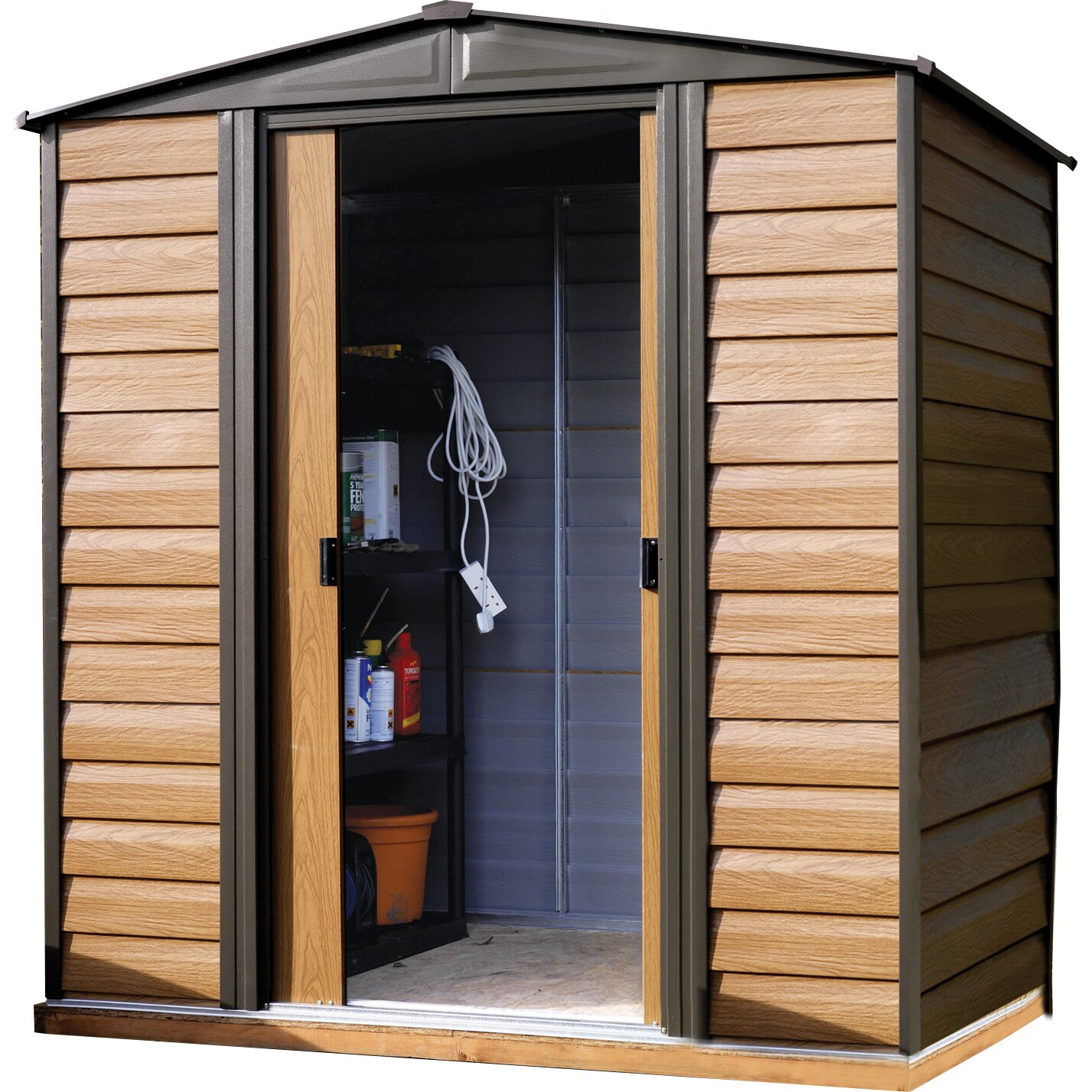 rowlinson 183 cm x 152 cm ger teschuppen aus metall. Black Bedroom Furniture Sets. Home Design Ideas