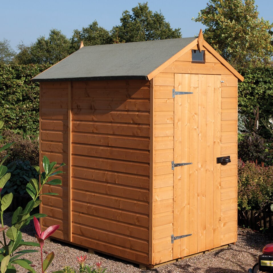 Rowlinson 5 x 7 wooden storage shed reviews wayfair uk for Garden shed 7 x 5