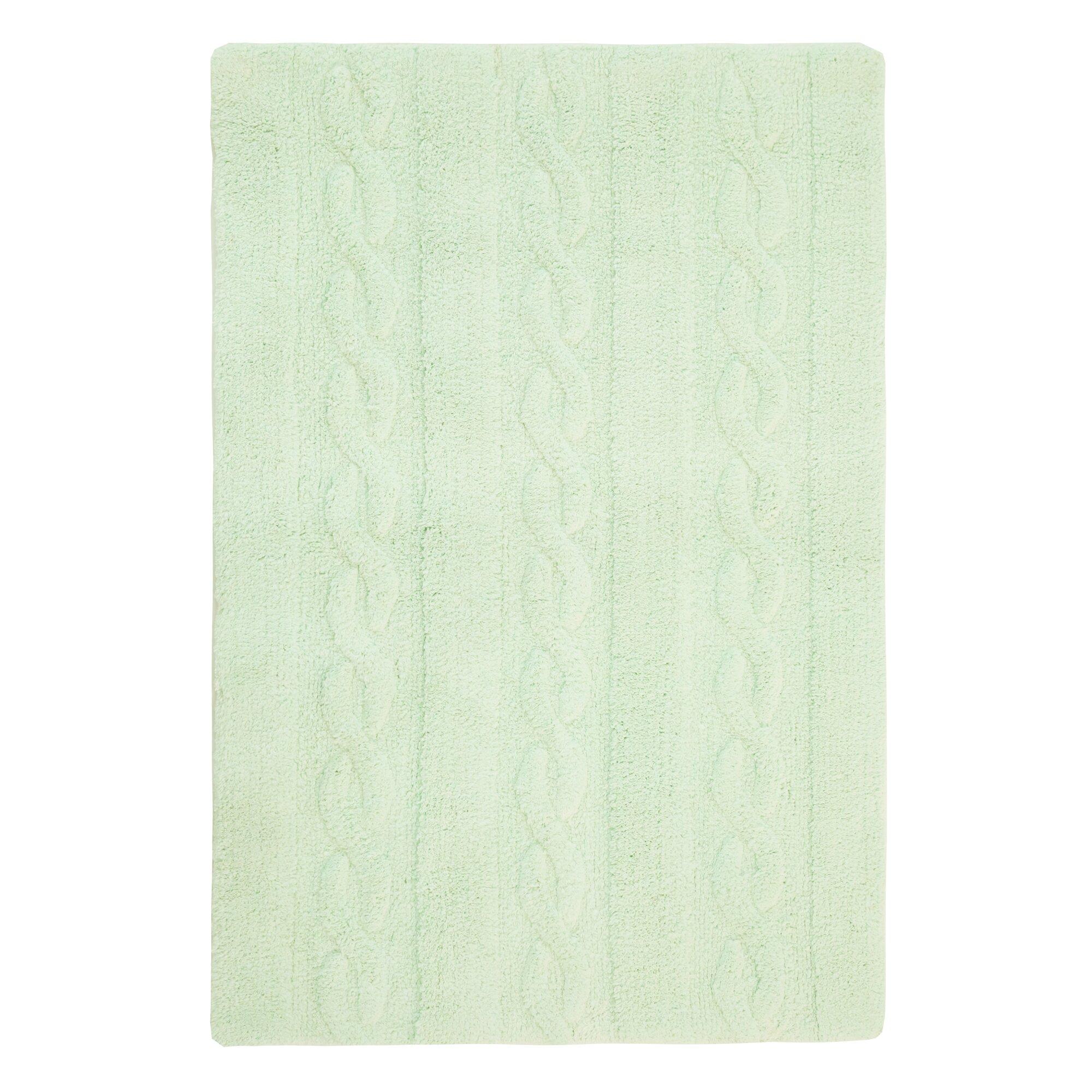 Handgefertigter Teppich Trenzas in Soft Mint von Lorena