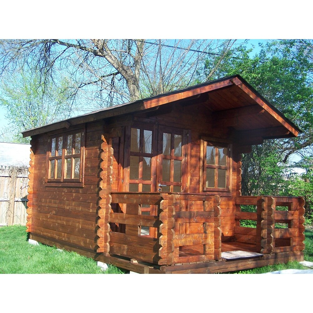 Wales 10 ft w x 10 ft d solid wood garden shed wayfair for Garden shed 9 x 5