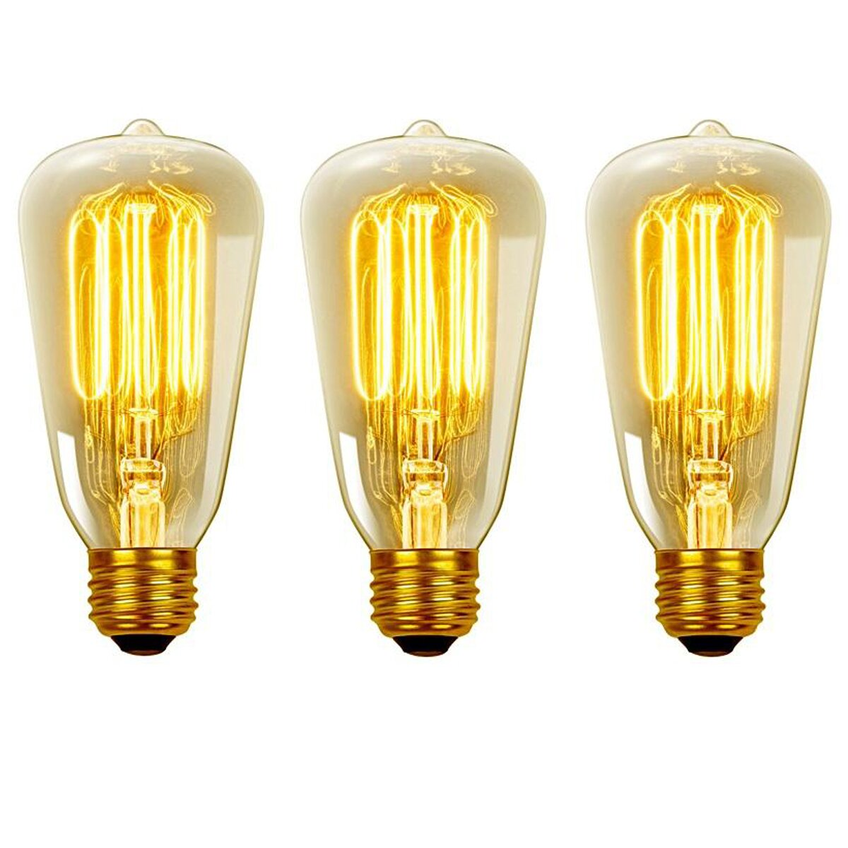 Vintage Edison 40 Watt 2700k S60 Squirrel Cage Incandescent Filament Light Bulb Wayfair