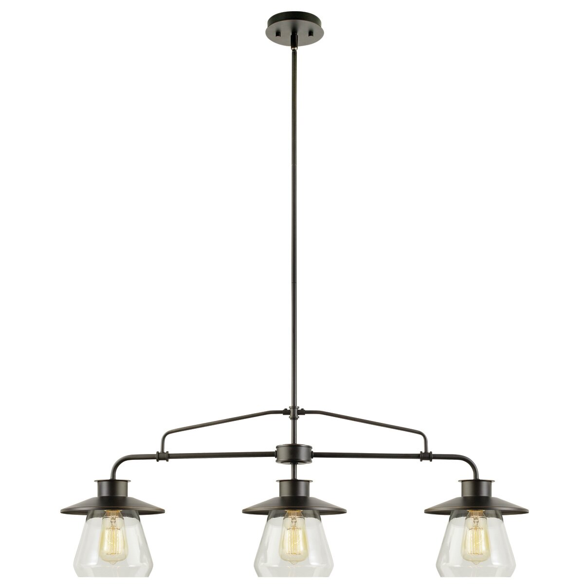 Bjvb Three Vintage Industrial Wood Pendant Lamp Bedroom: Globe Electric Company Moyet 3 Light Kitchen Island