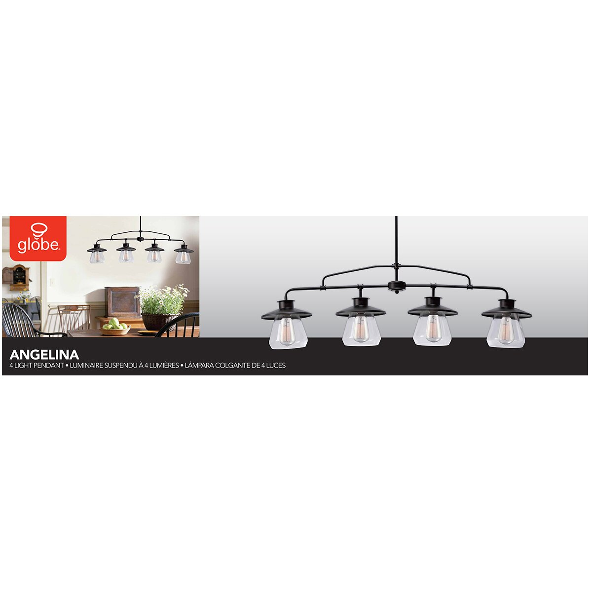 Angelica 4 light kitchen island pendant wayfair - Angelica kitchen delivery ...