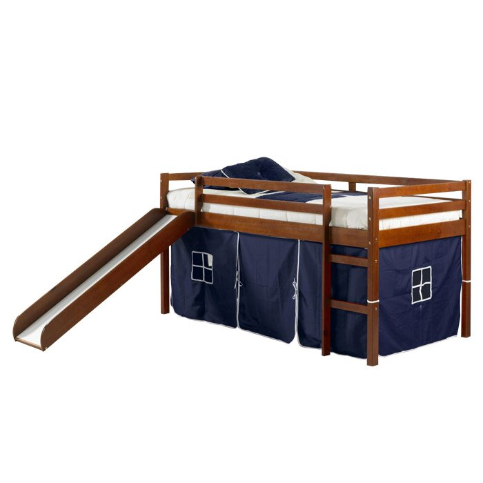 Donco Kids Twin Loft Tent Bed With A Slide Reviews