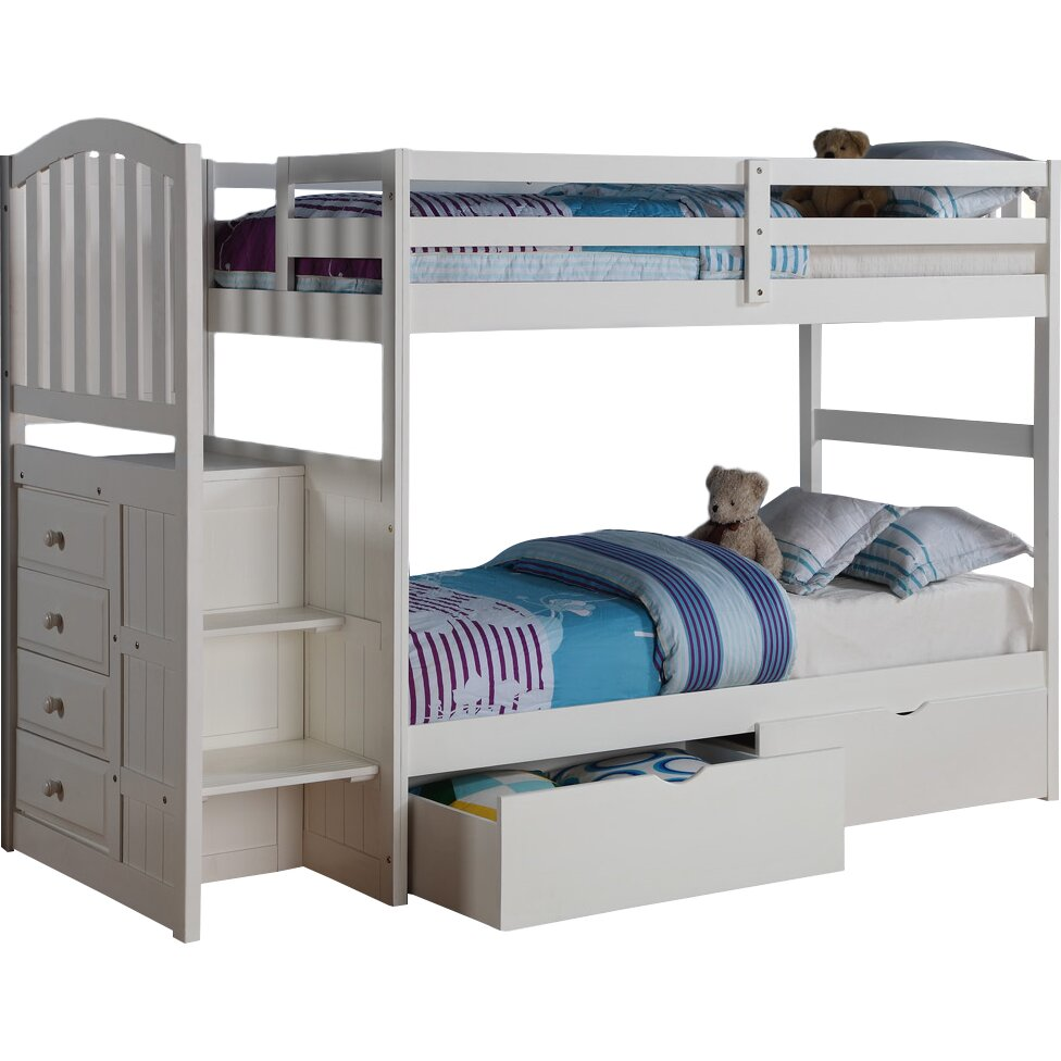 donco kids donco kids twin bunk bed with storage reviews. Black Bedroom Furniture Sets. Home Design Ideas