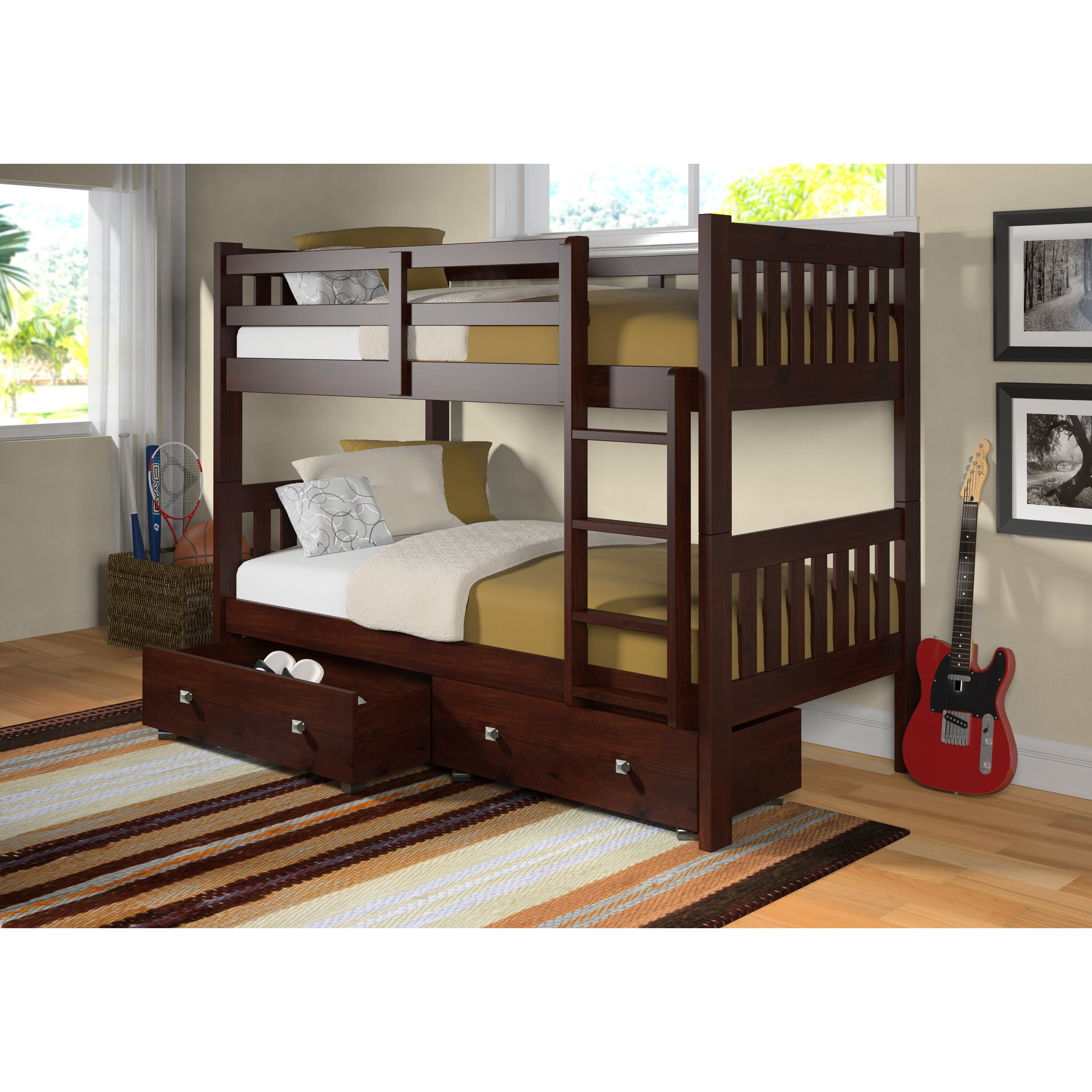 Twin Bunk Bed With Storage Wayfair