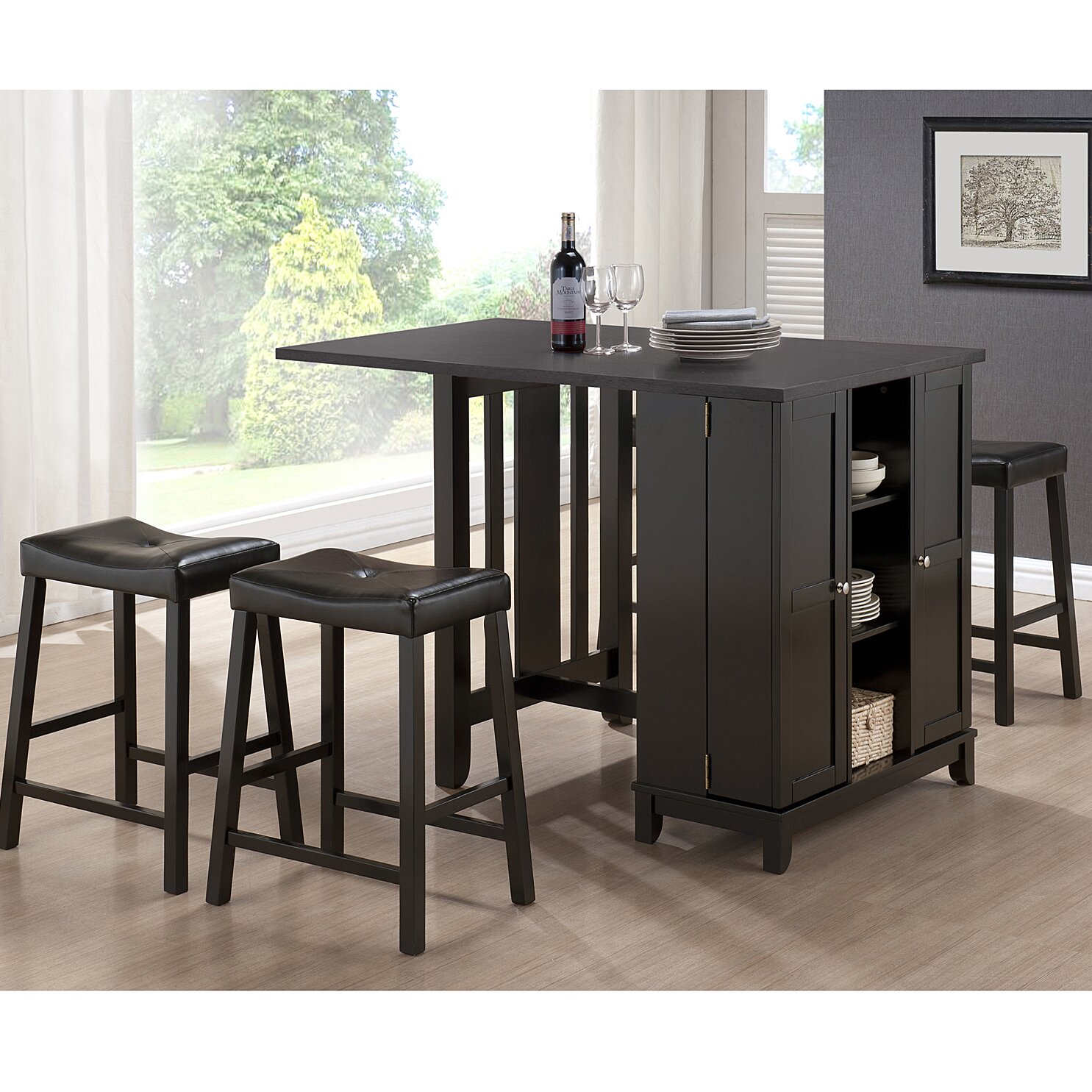 Dining Room Shelving And Storage: Wholesale Interiors Baxton Studio Aurora 5 Piece Dining