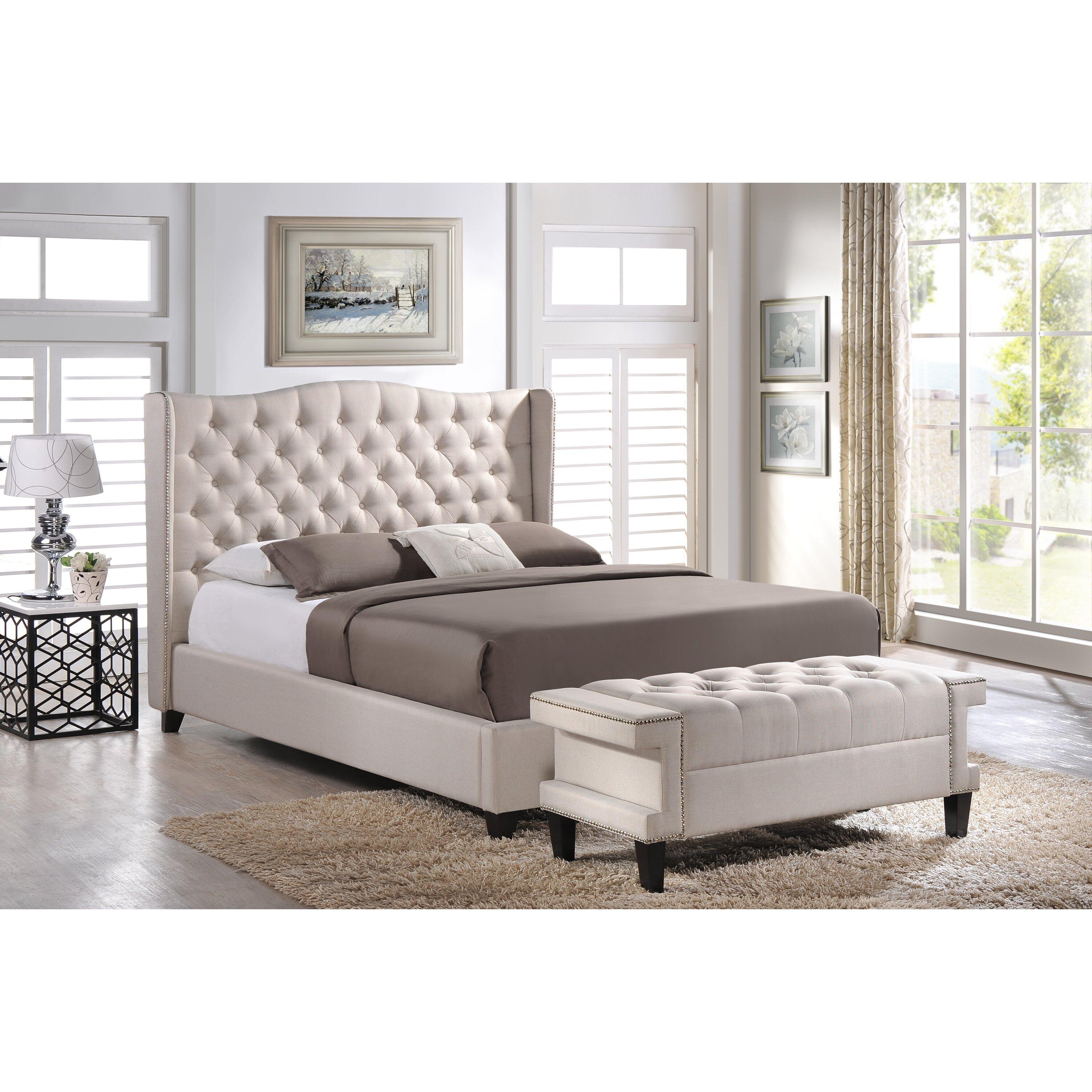 Wholesale interiors baxton studio upholstered platform bed - Wholesale bedroom furniture sets ...