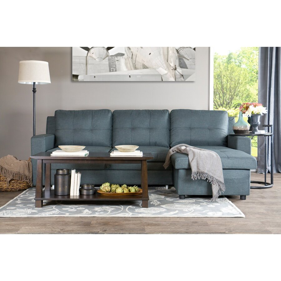 Wholesale Interiors Baxton Studio Staffordshire Sectional Sofa RFC Gray WHI
